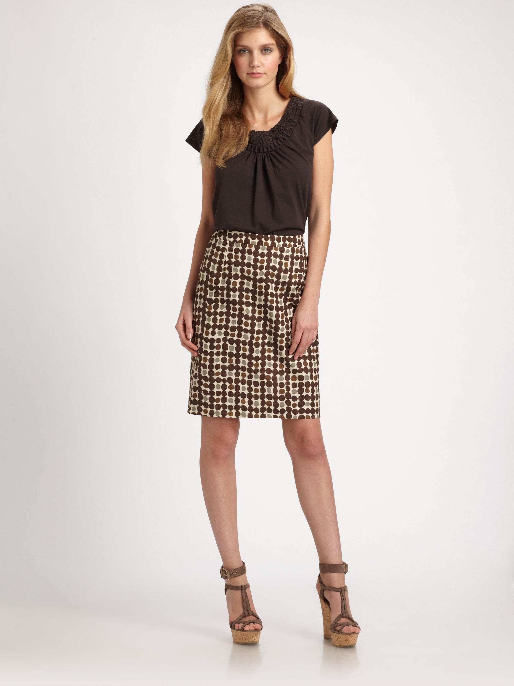 Brown Straight Skirt 118