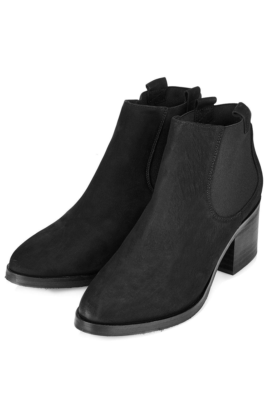 topshop mid heel chelsea boots in black lyst
