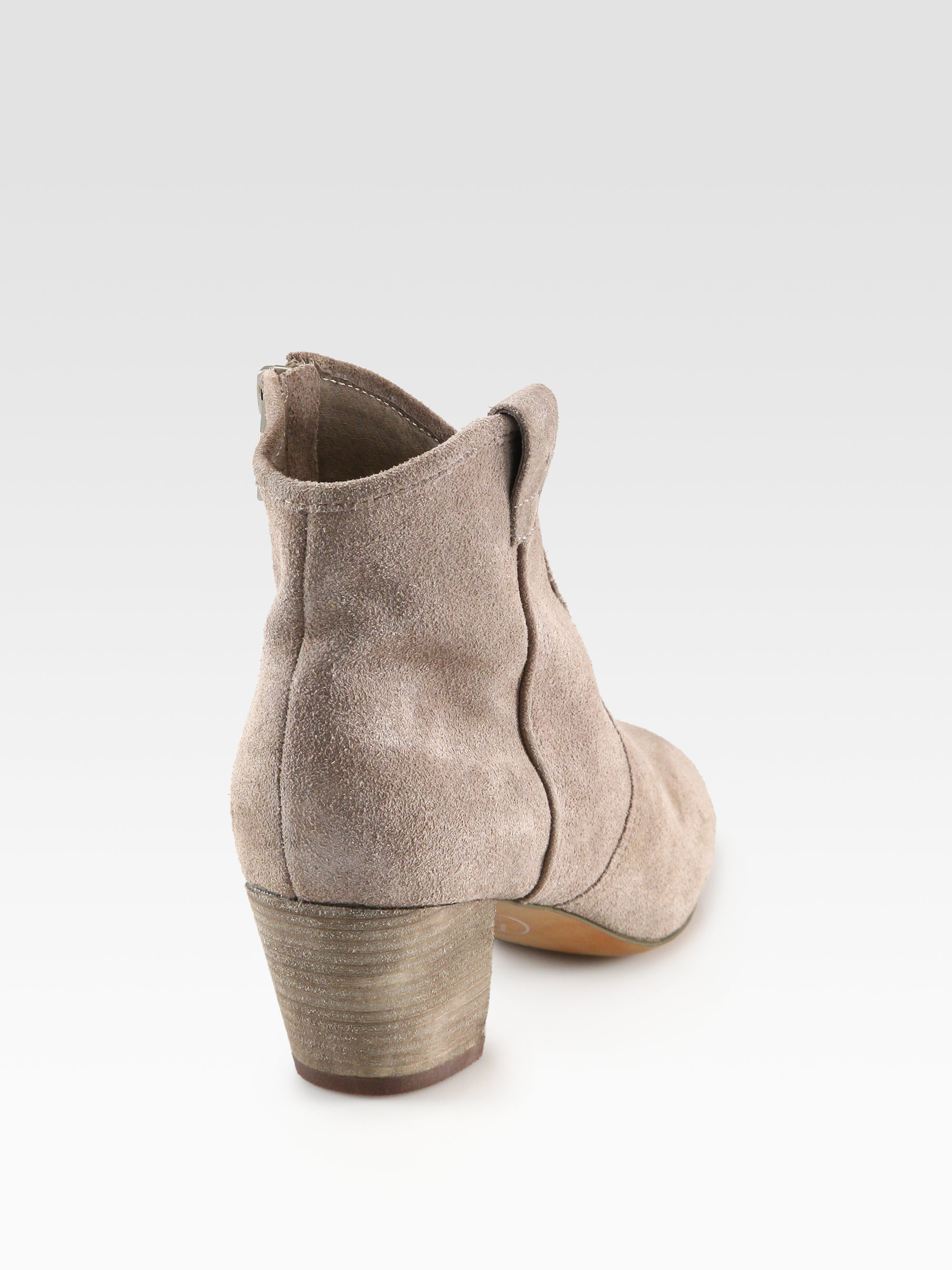 2827f5e40f266 Lyst - Ash Spiral Suede Western Ankle Boots in Gray