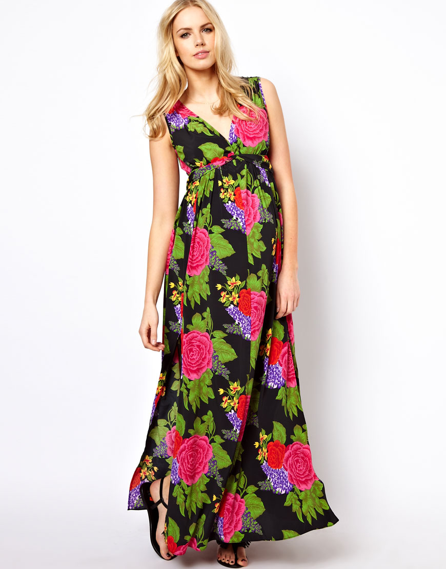 Asos Maternity Maxi Dress in Large Floral in Floral (print ...