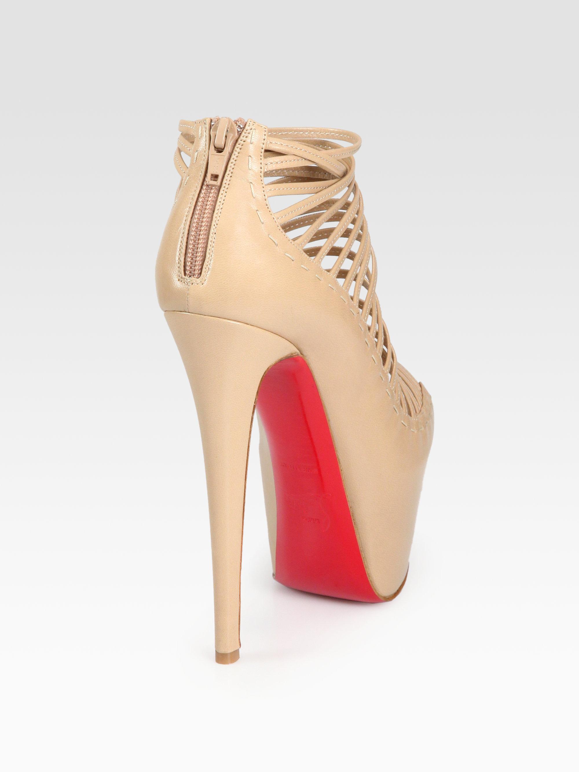 christian louboutin platform sandals Beige leather   The Little ...