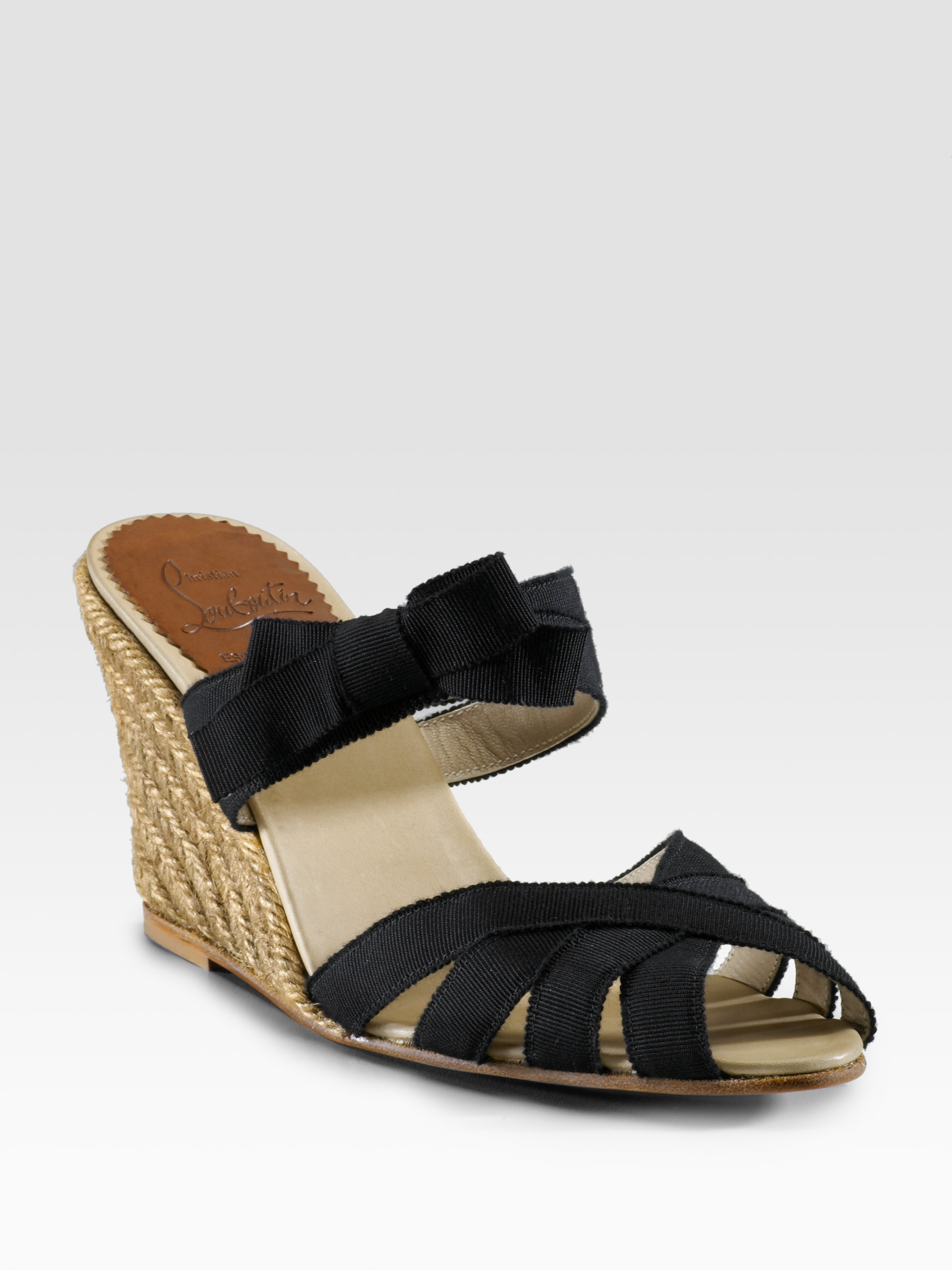 best loved 39c86 07cee Christian Louboutin Black Delfin Espadrille Wedges