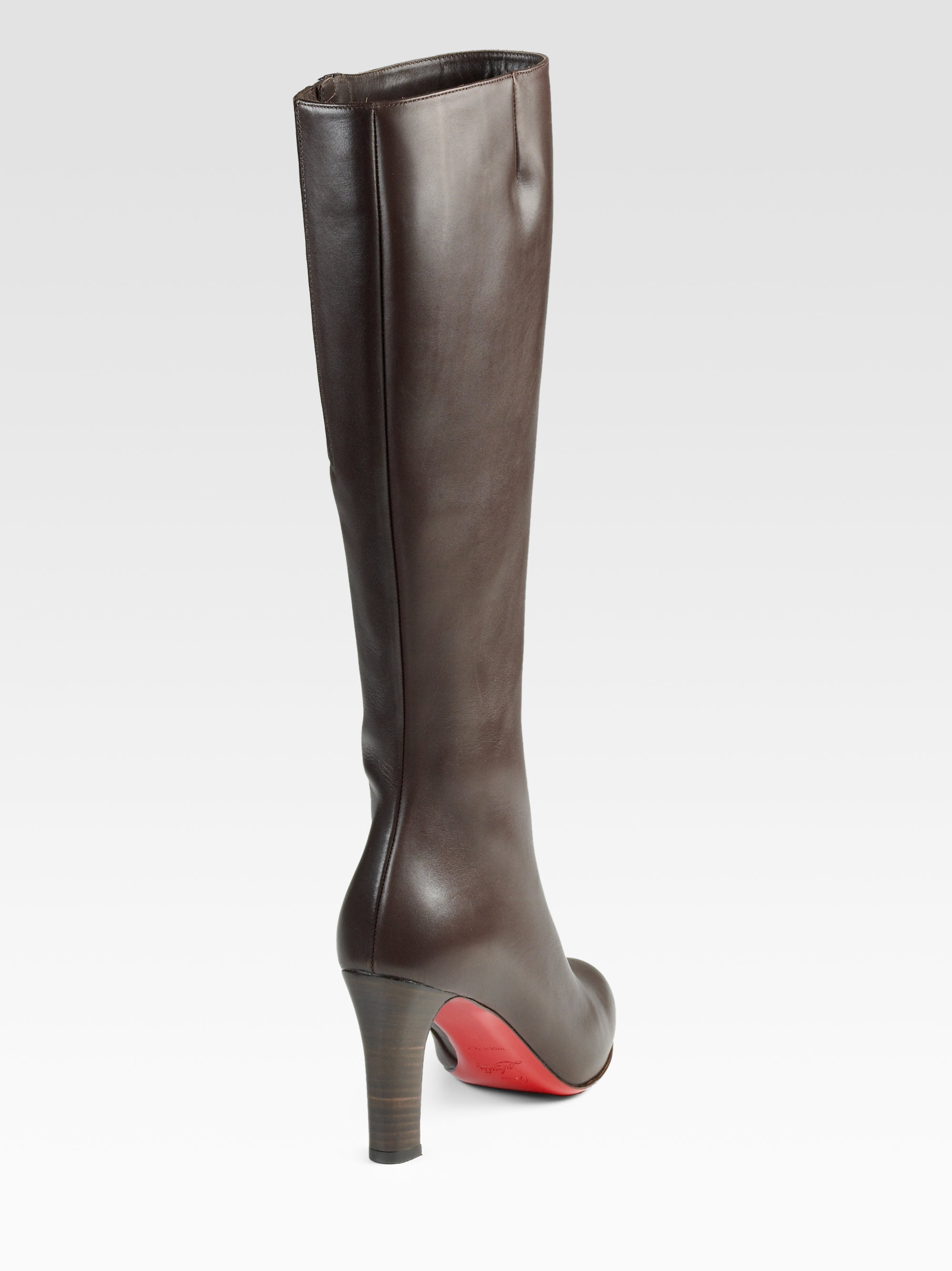 f9d9bf4a07b Christian Louboutin Black Miss Tack Botta 85 Leather Kneehigh Boots
