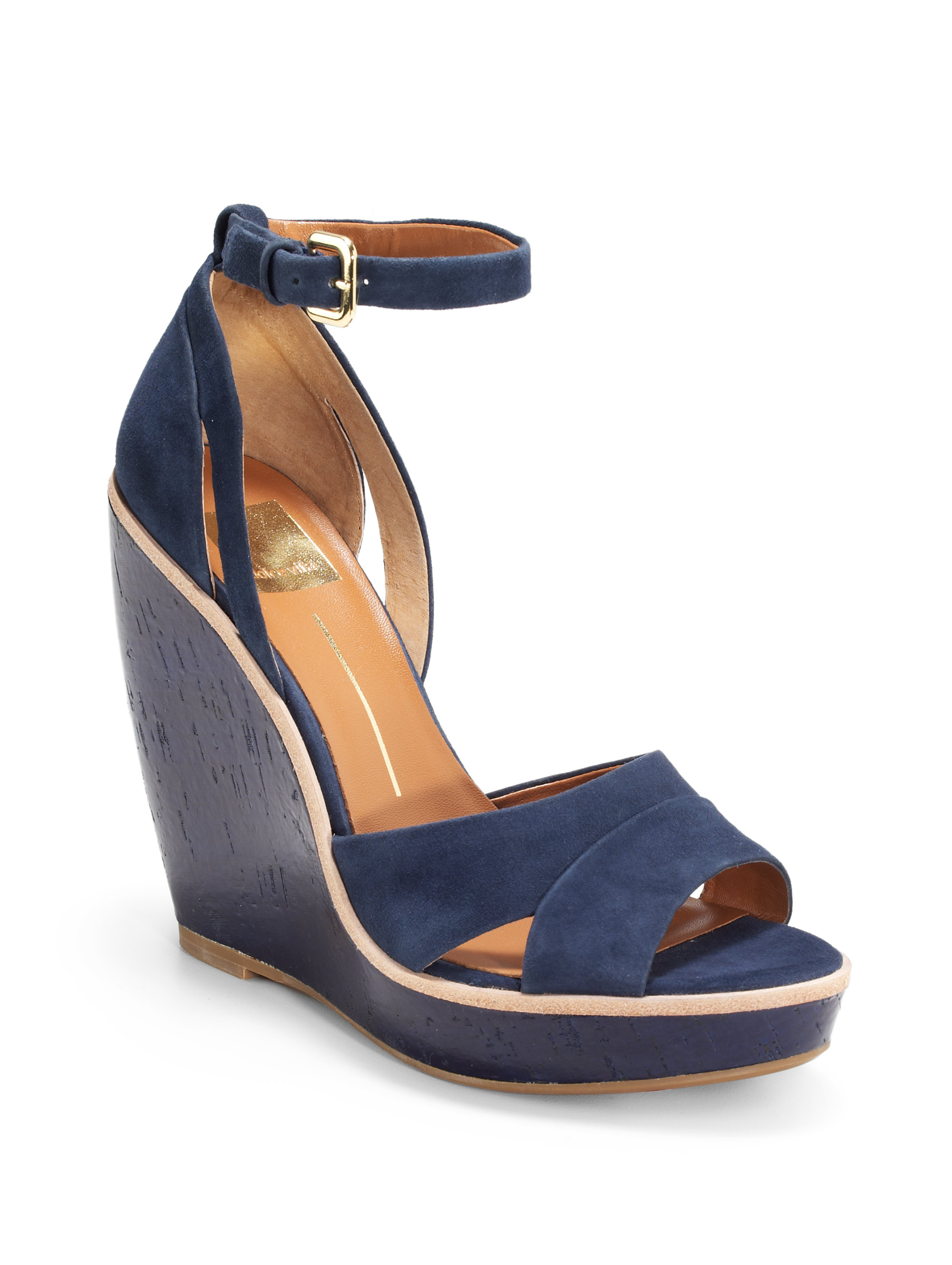 Lyst - Dolce Vita Paiva Ankle Strap Wedge Sandals in Blue c55c323a14