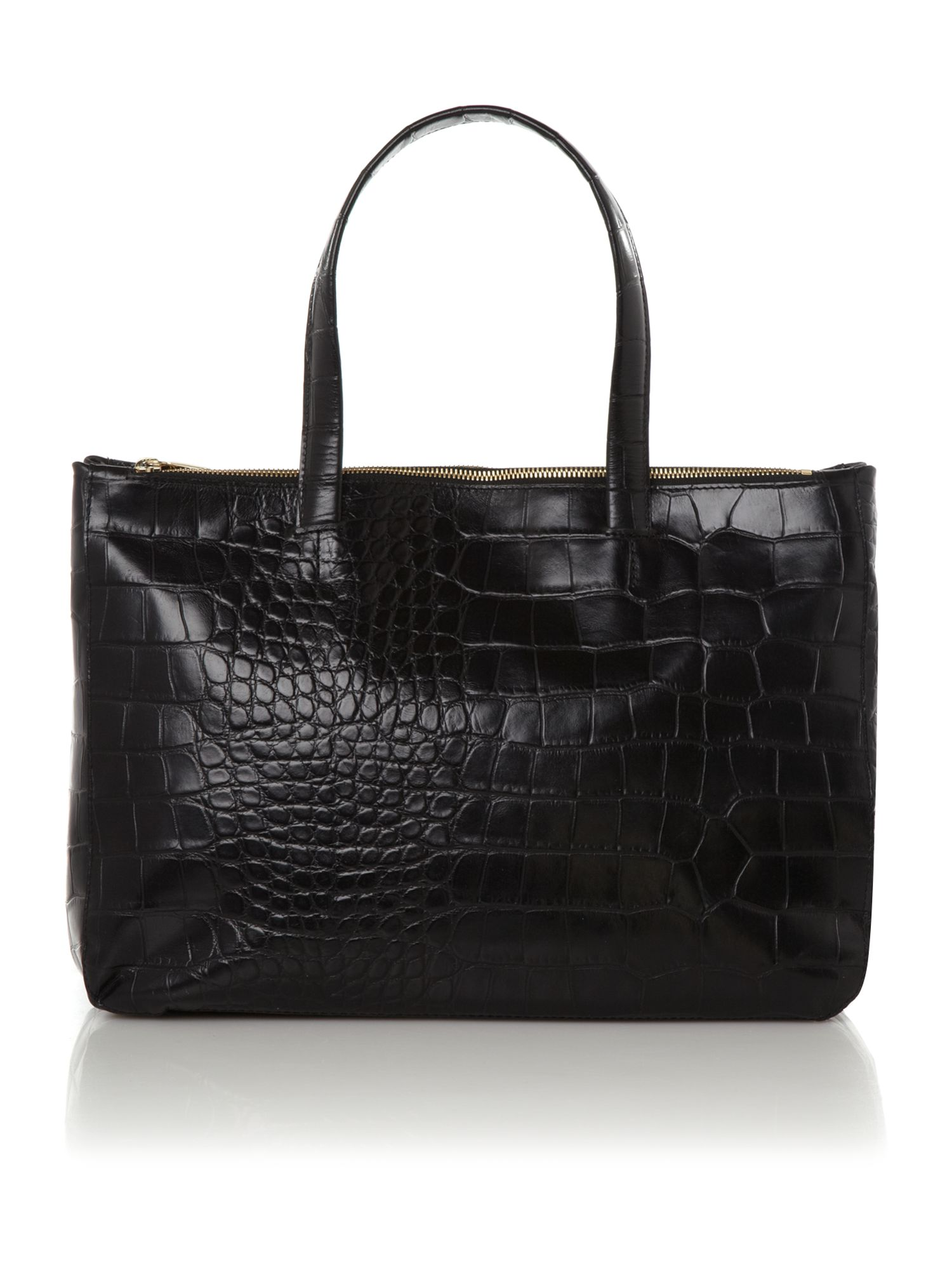 Furla Croc Tote Bag In Black Lyst