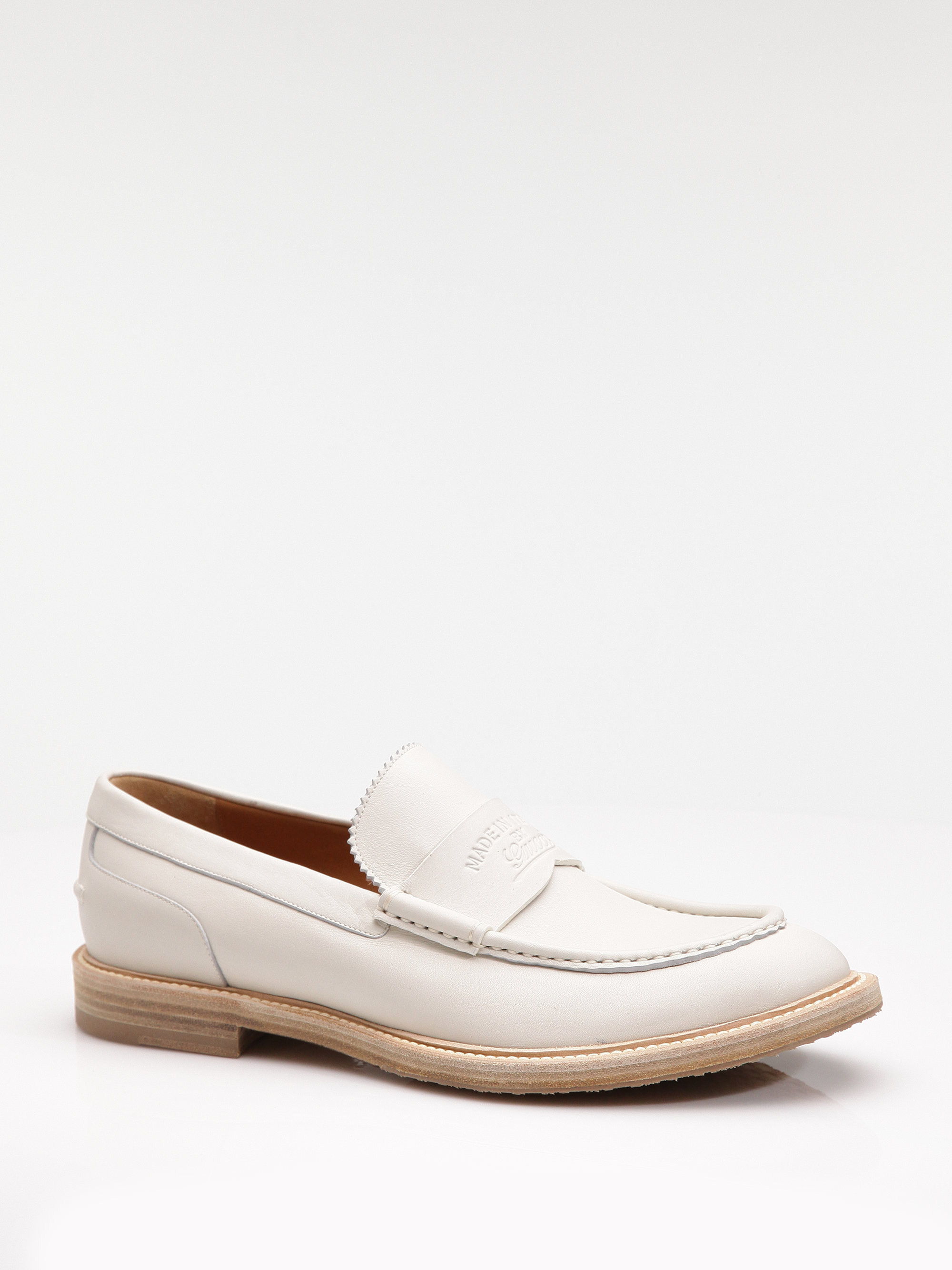 Gucci Loafer In White For Men Lyst