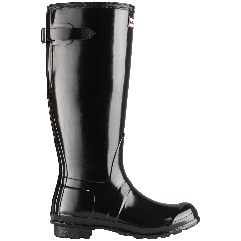 HUNTER Women'S Original Adjustable Rubber Wellington Boots in Black