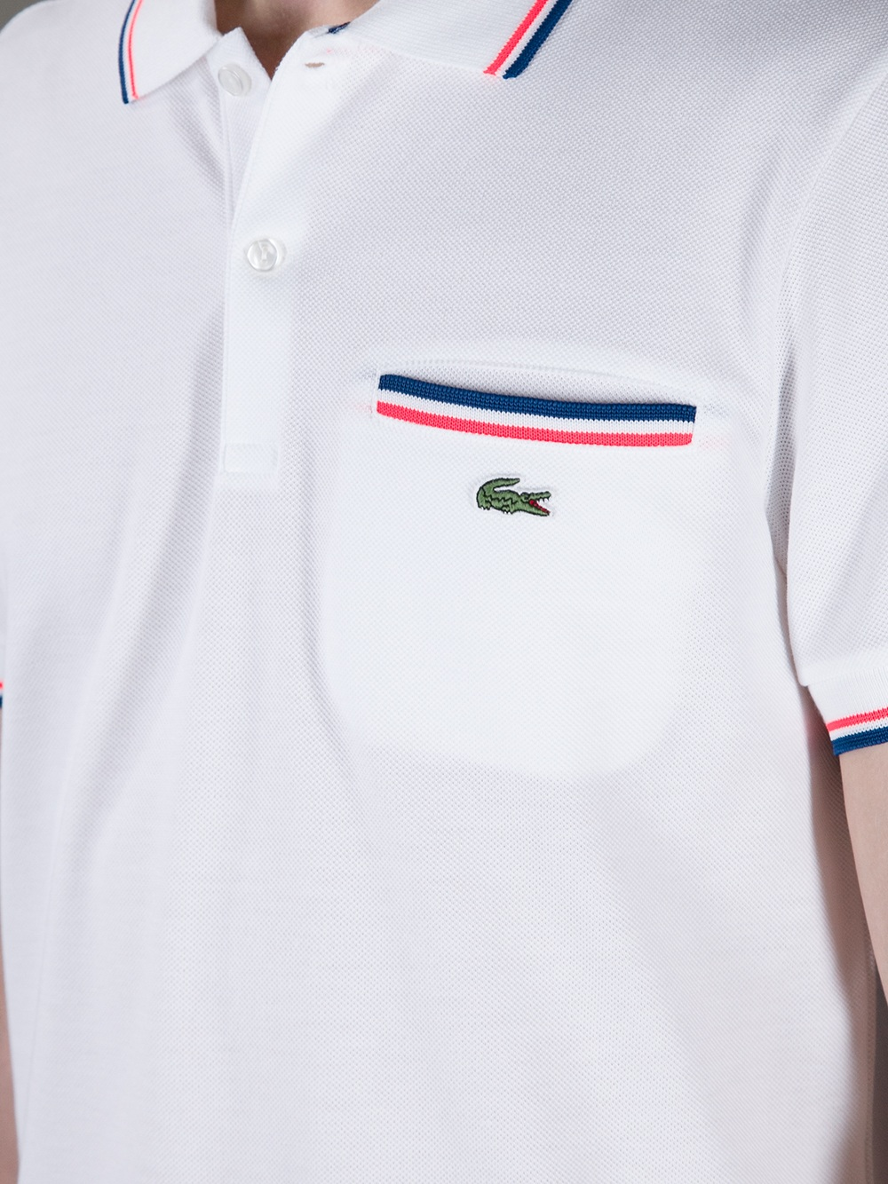 Lacoste Live Polo Shirt With Pocket In White For Men Lyst