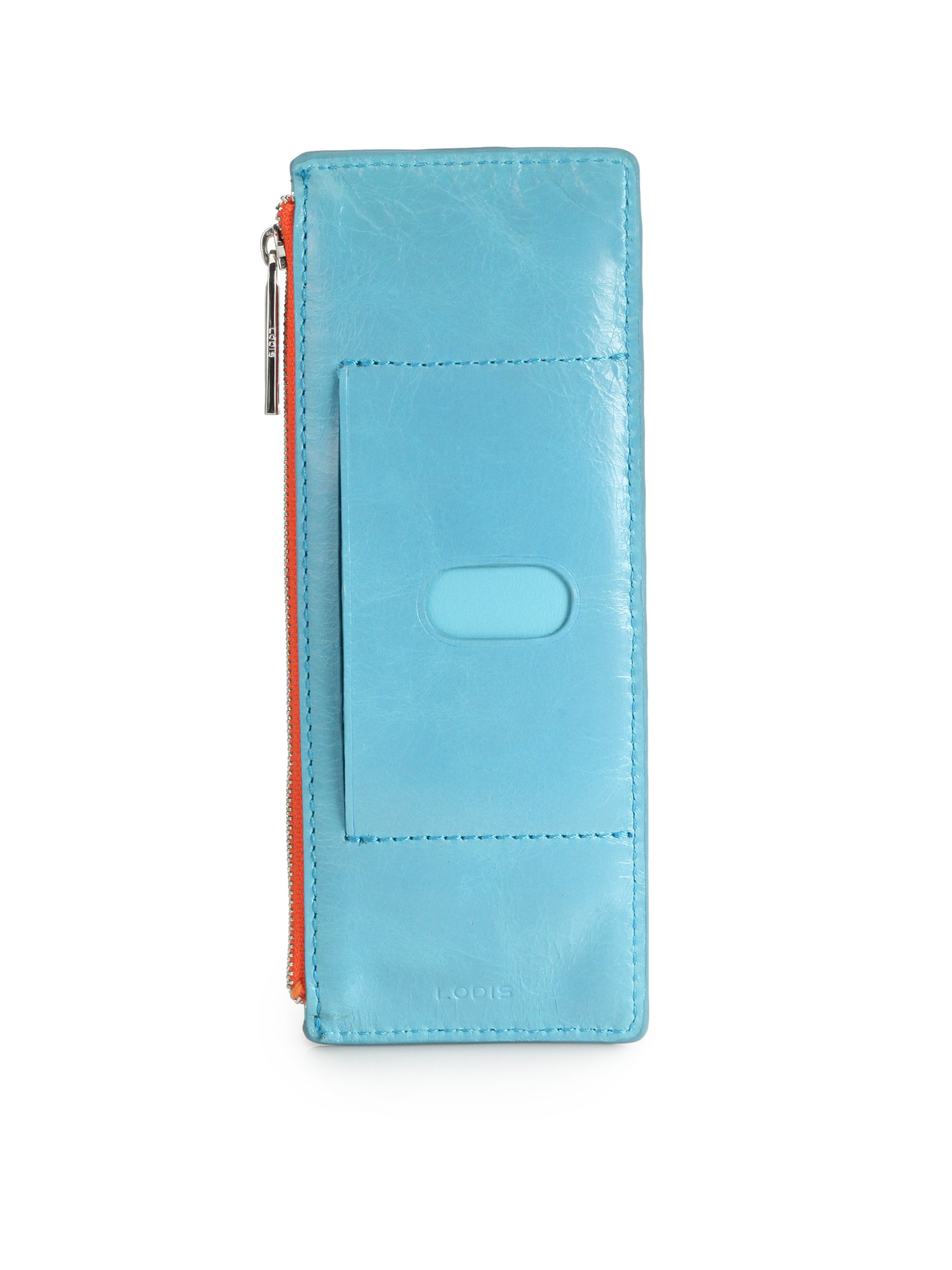new concept 13ab1 fd75c Lodis Blue Astoria Credit Card Zip Wallet