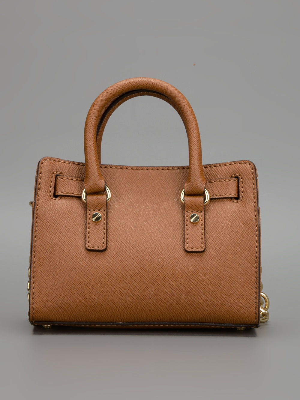 Michael Kors Hamilton Laukku : Michael kors hamilton shoulder bag in brown lyst