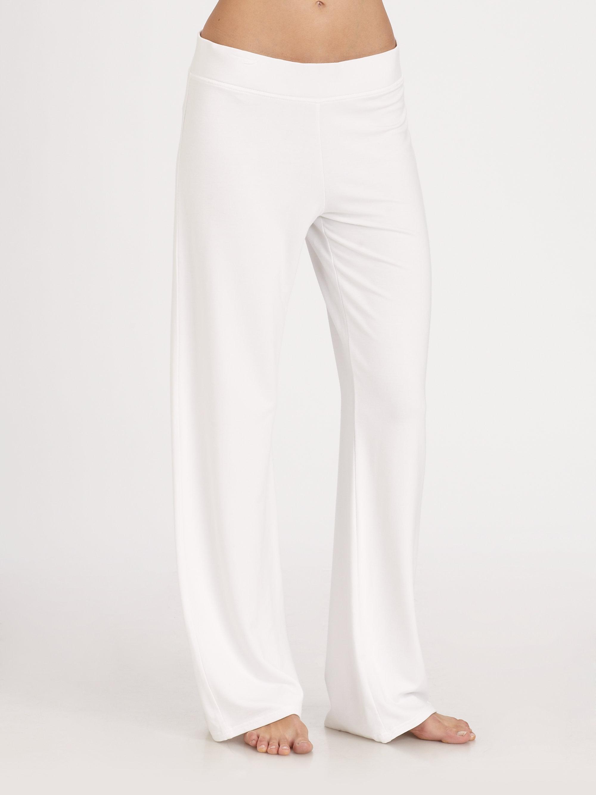White Lounge Pants Si Pant