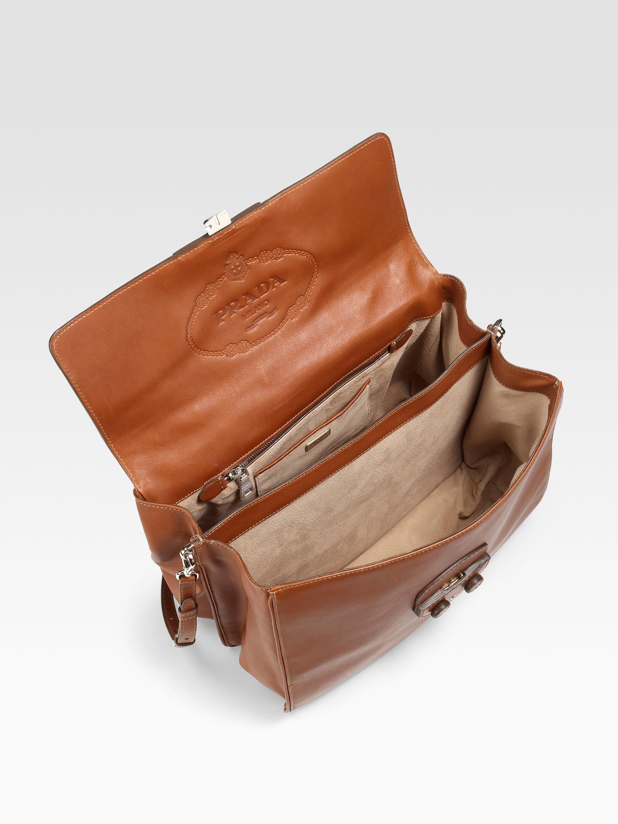 3f7c439b03f3 ... discount code for prada saffiano leather bag lyst prada city calf tote  in brown 7042c 8bcf9