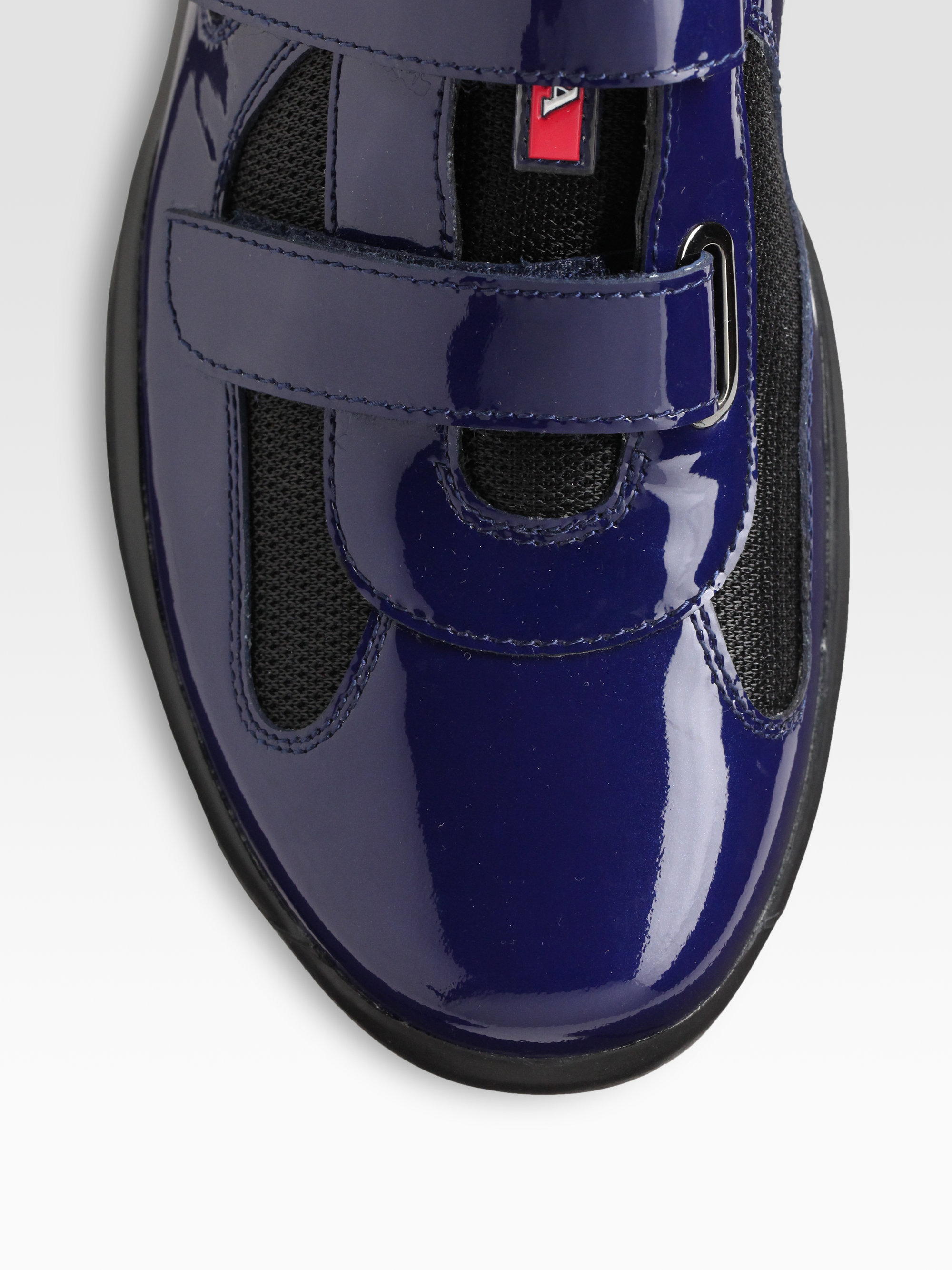 Prada Double Strap Sneakers in Blue for Men (royal black) | Lyst