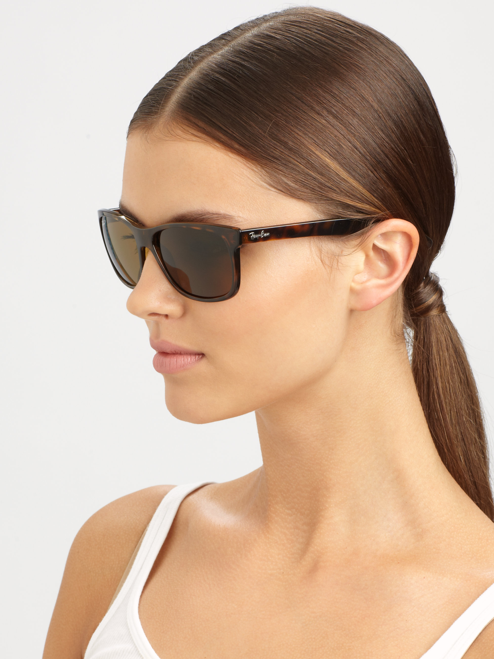 ray ban square sunglasses  Ray-ban Square Top Acetate Sunglasses in Brown