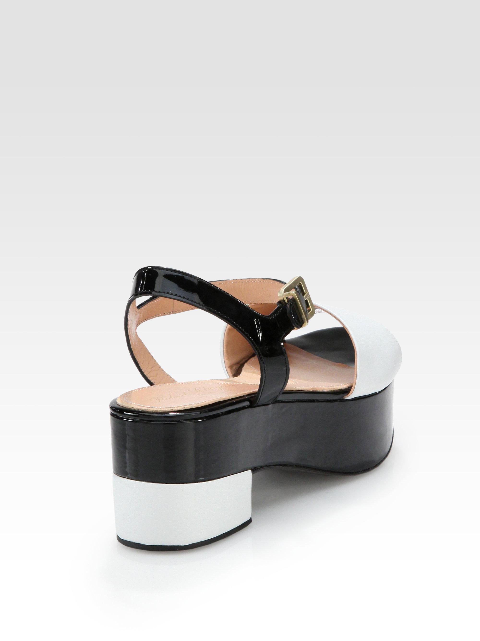 528ae566af8 Lyst - Robert Clergerie Ekora Bicolor Patent Leather Platform ...