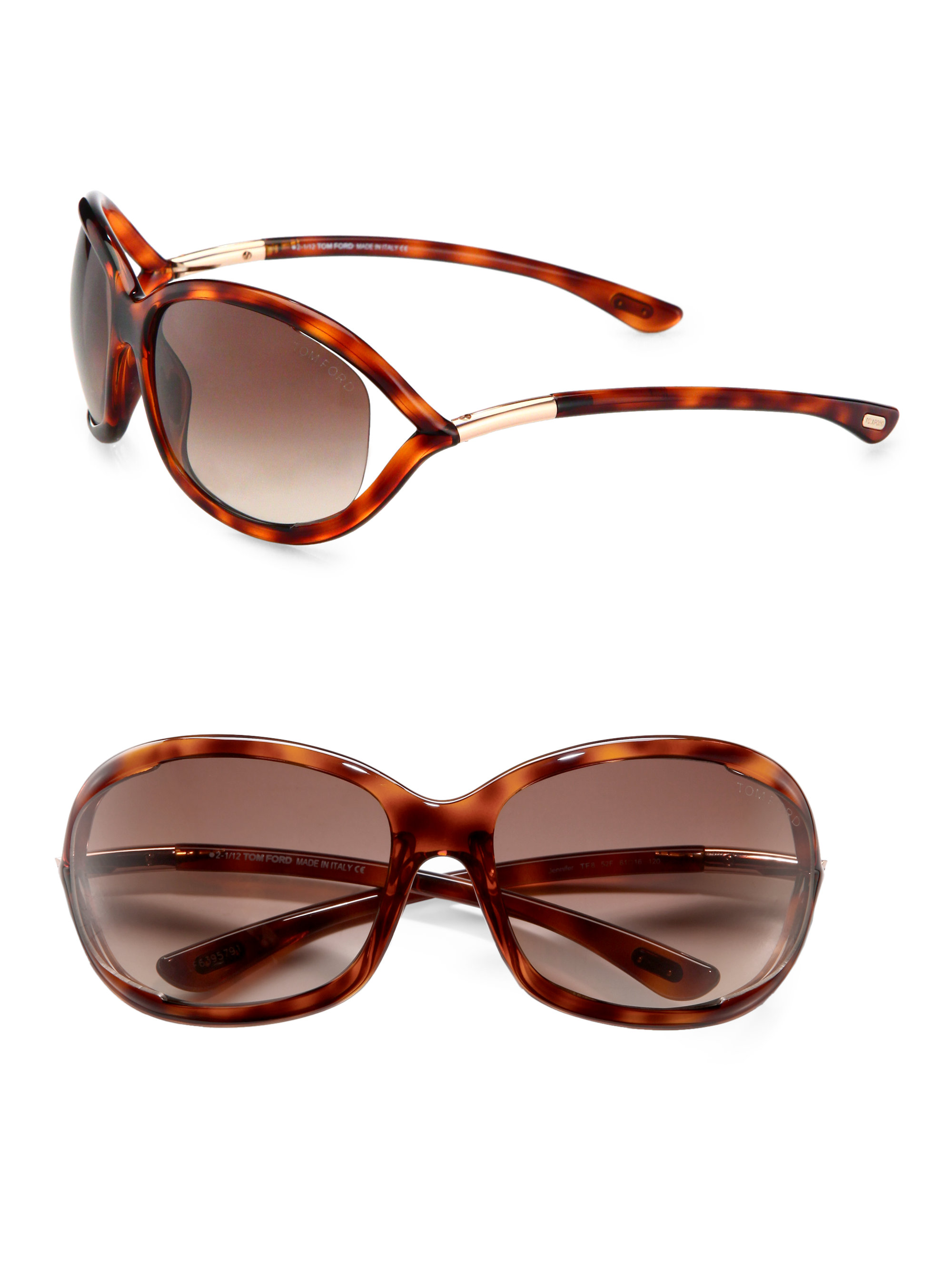 tom ford jennifer 61mm oval sunglasses havana in brown lyst. Cars Review. Best American Auto & Cars Review