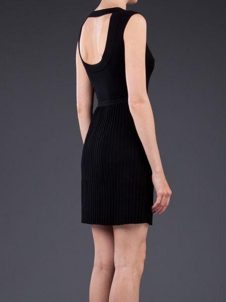 Versace Knit Dress In Black Lyst