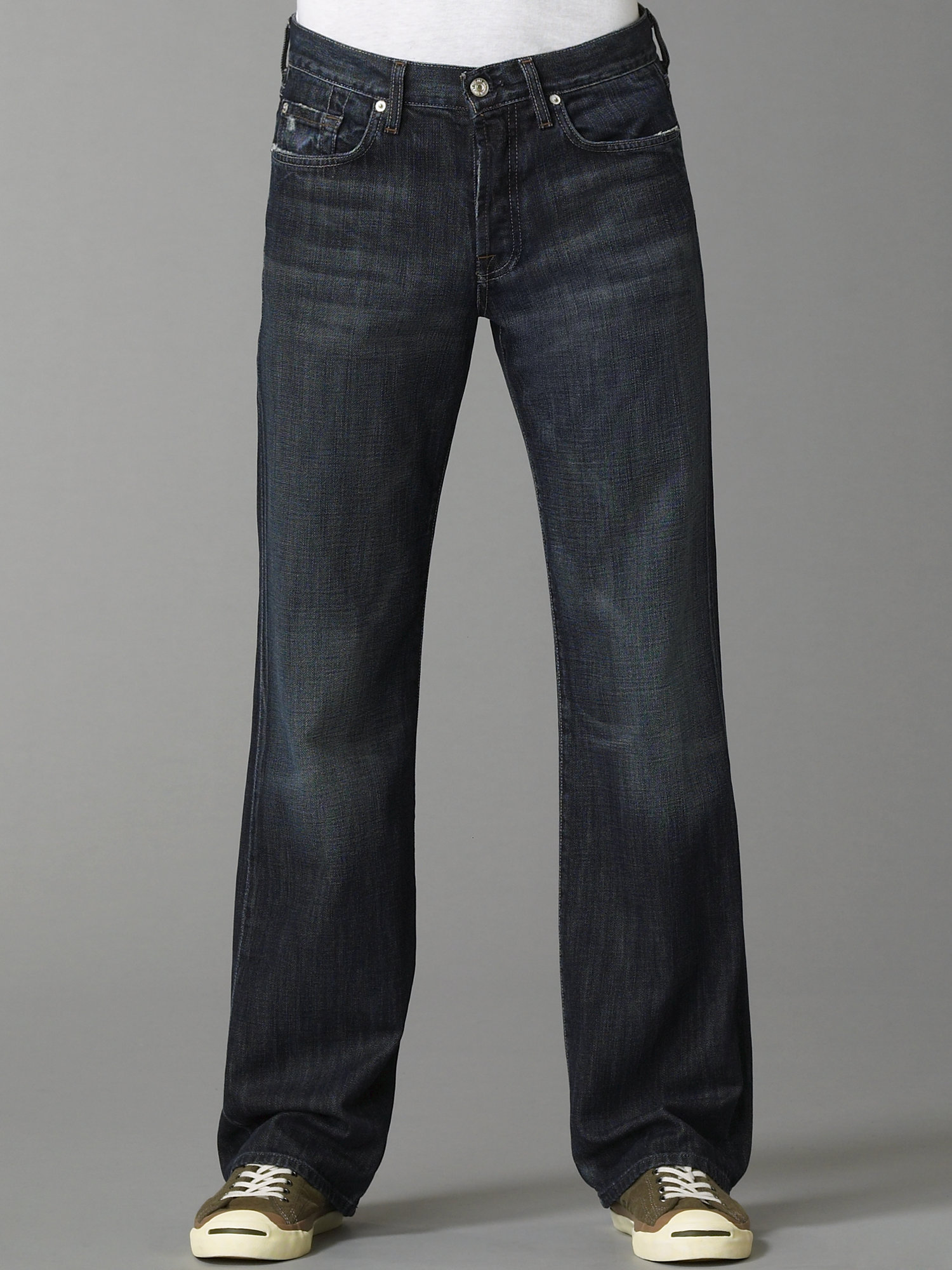 for all mankind montana straightleg jeans in blue for men lyst. Black Bedroom Furniture Sets. Home Design Ideas