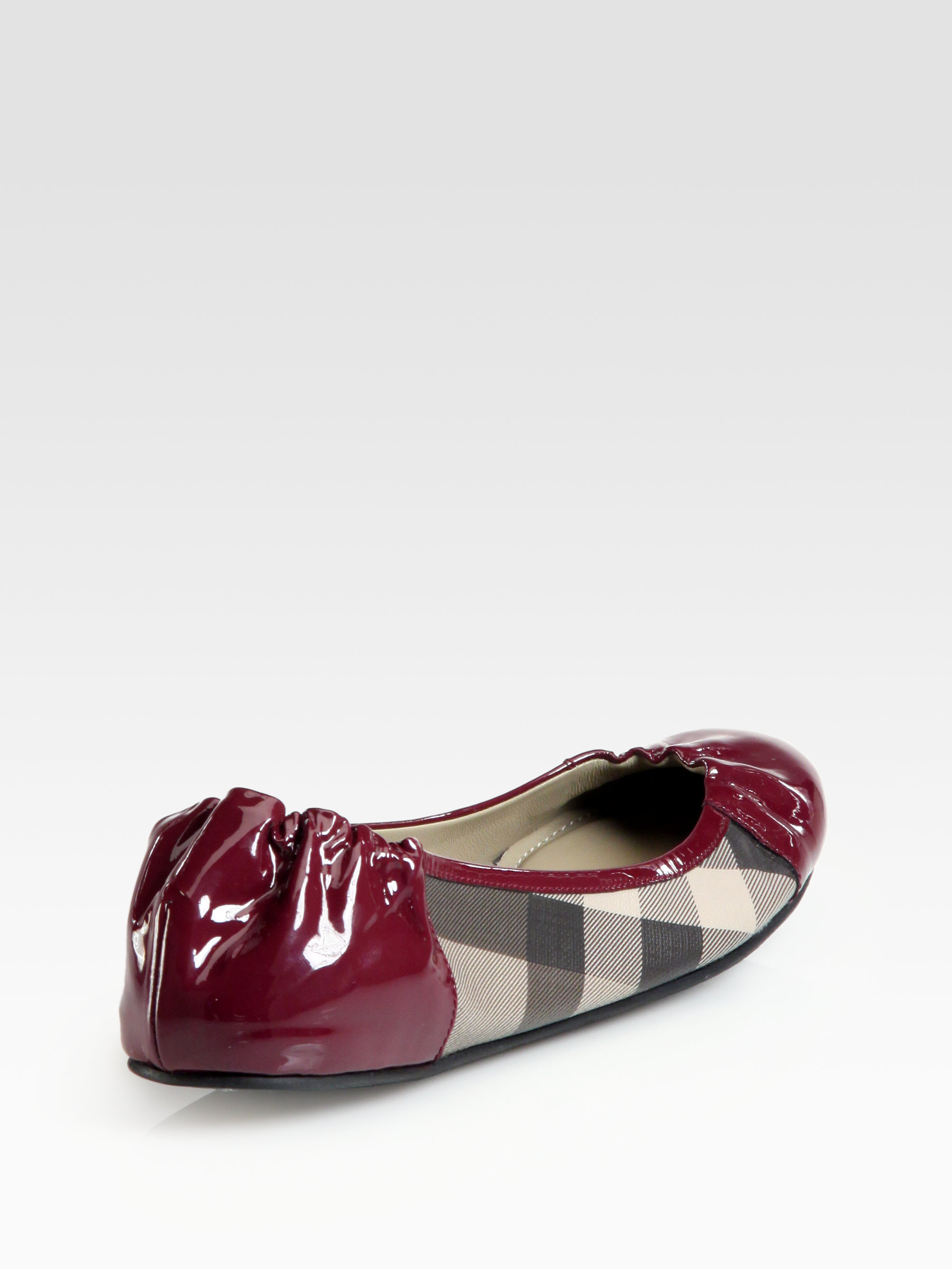 Burberry Patent Leather Ballet Flats D9Aw5q8H