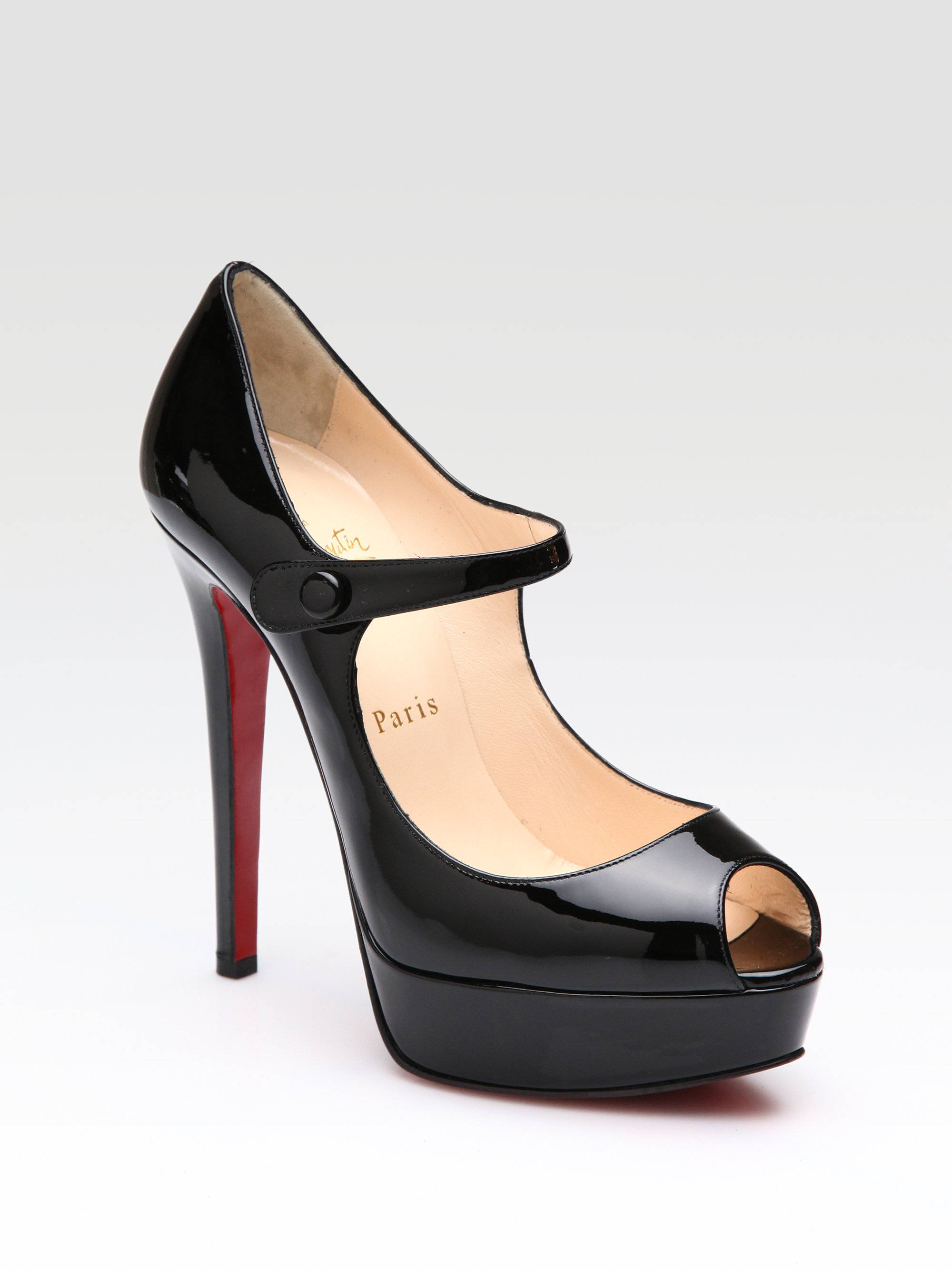 what is the best replica shoe website - christian louboutin mary-janes Black patent covered heels | The ...