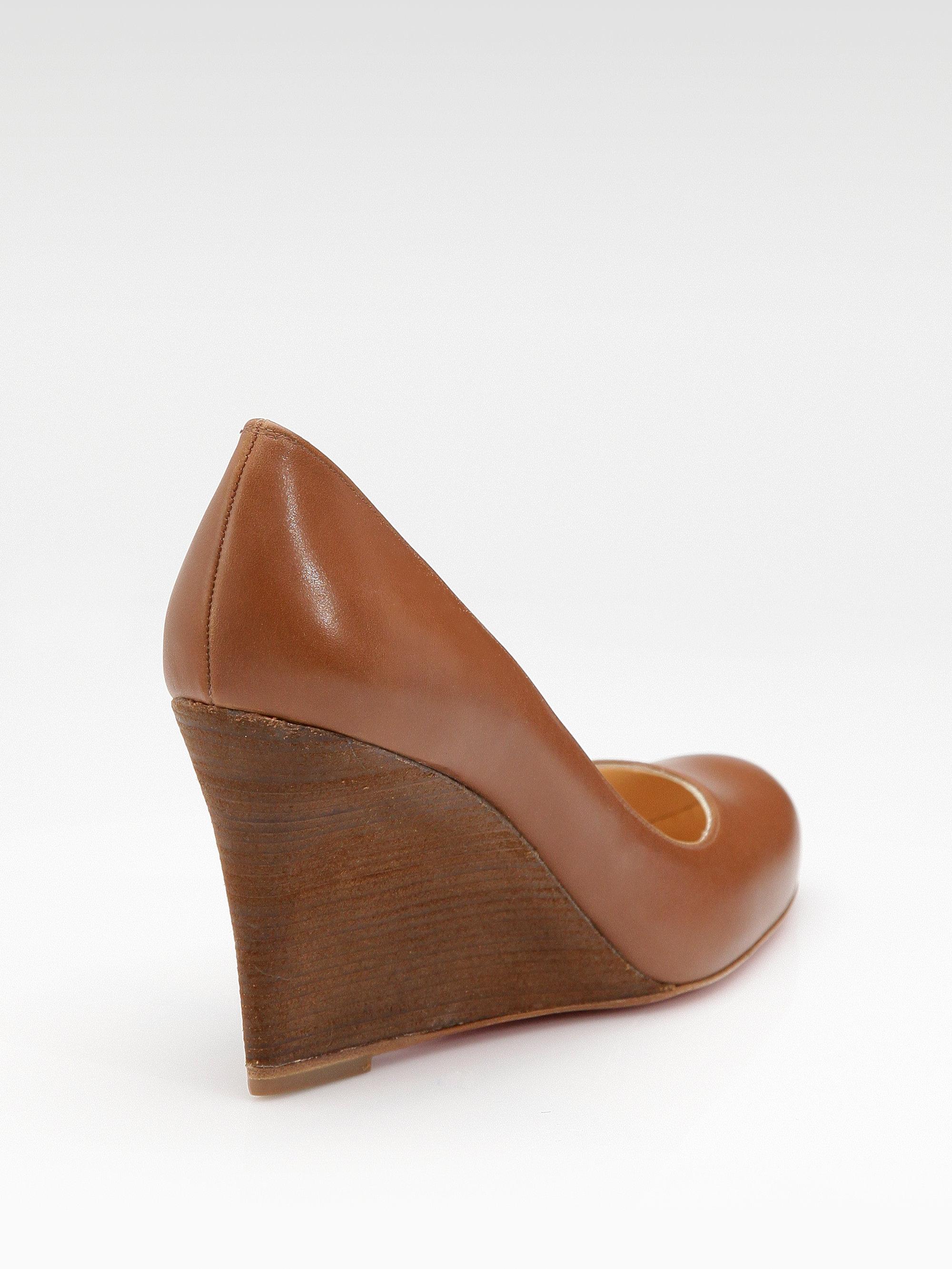 Red Wooden Heel Shoes