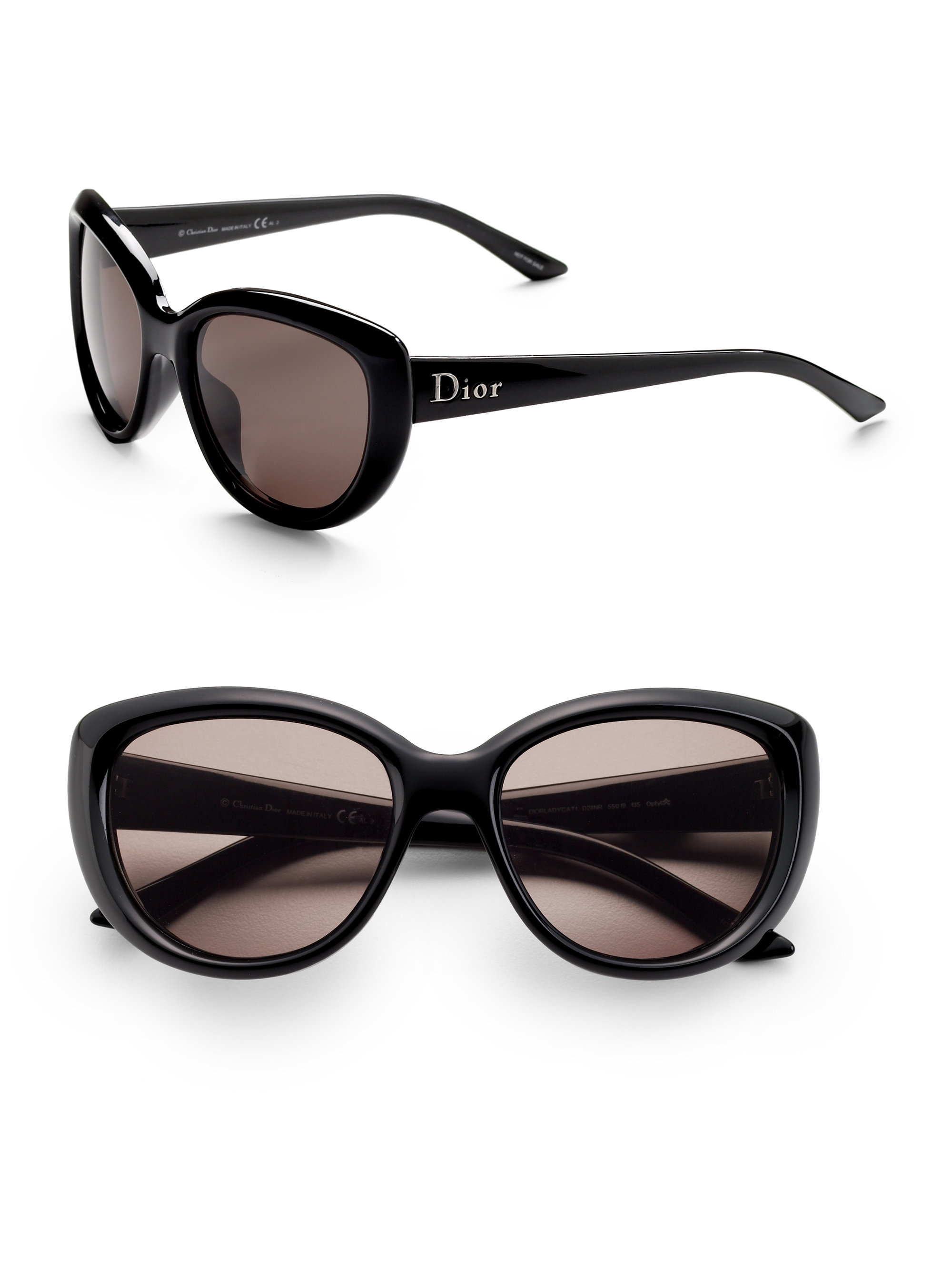 f6d1fa9b4041 Lyst - Dior Lady Cat Sunglasses in Black