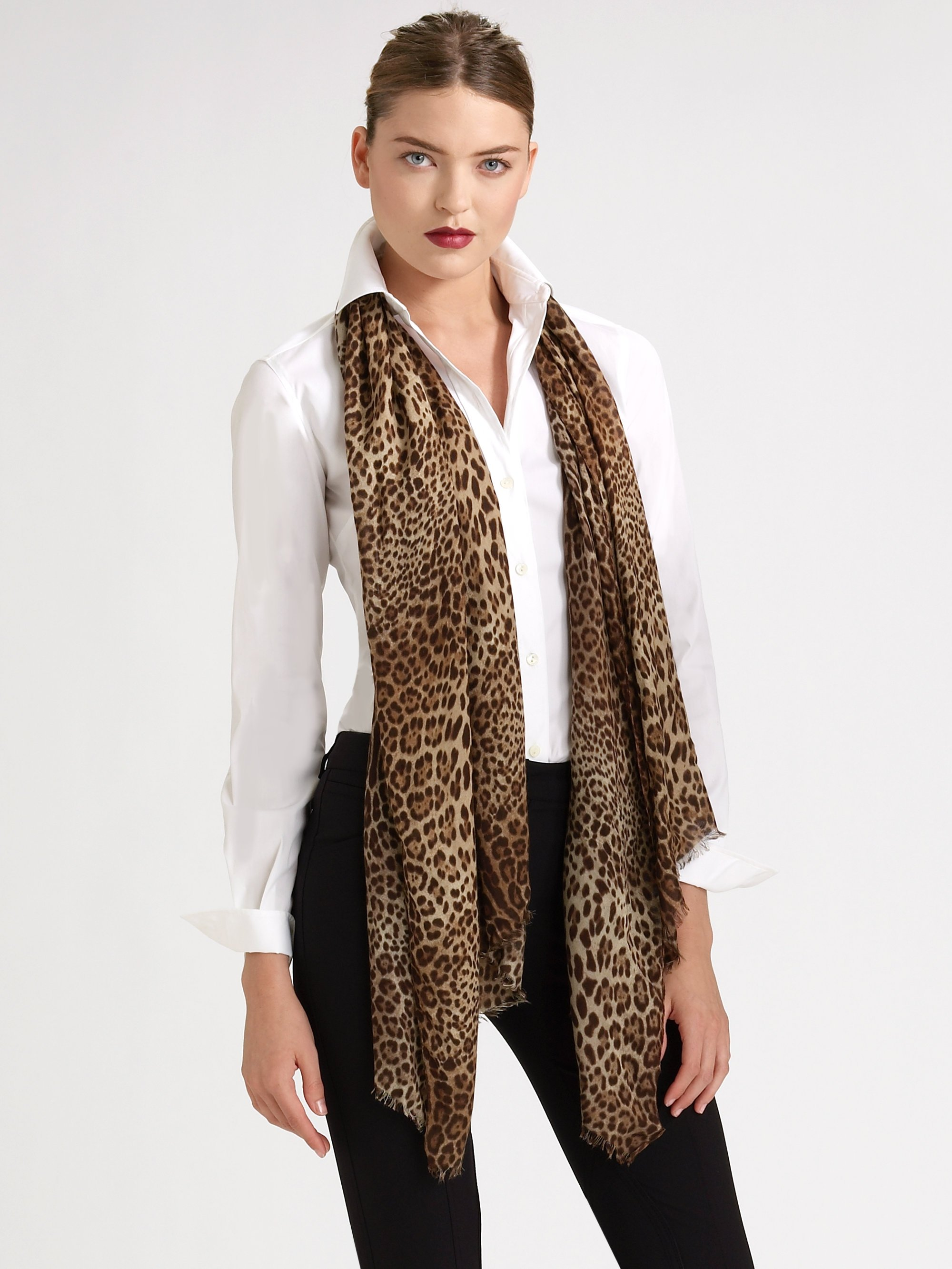 d01ea9515d ... hot lyst dolce gabbana leopard print scarf c385b 4b031