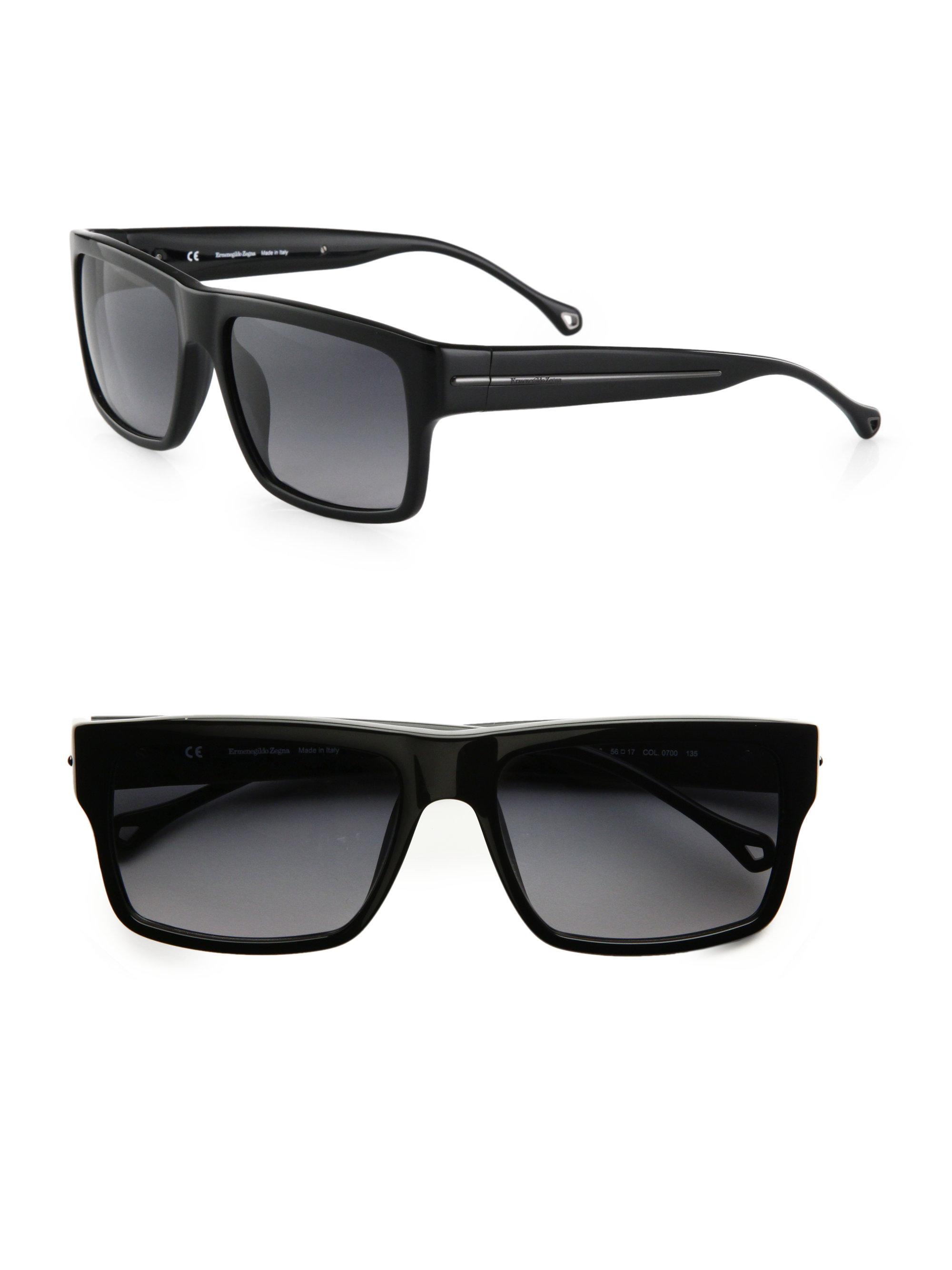 89354c7b52 Lyst - Ermenegildo Zegna Resin Wayfarer Sunglasses in Black for Men