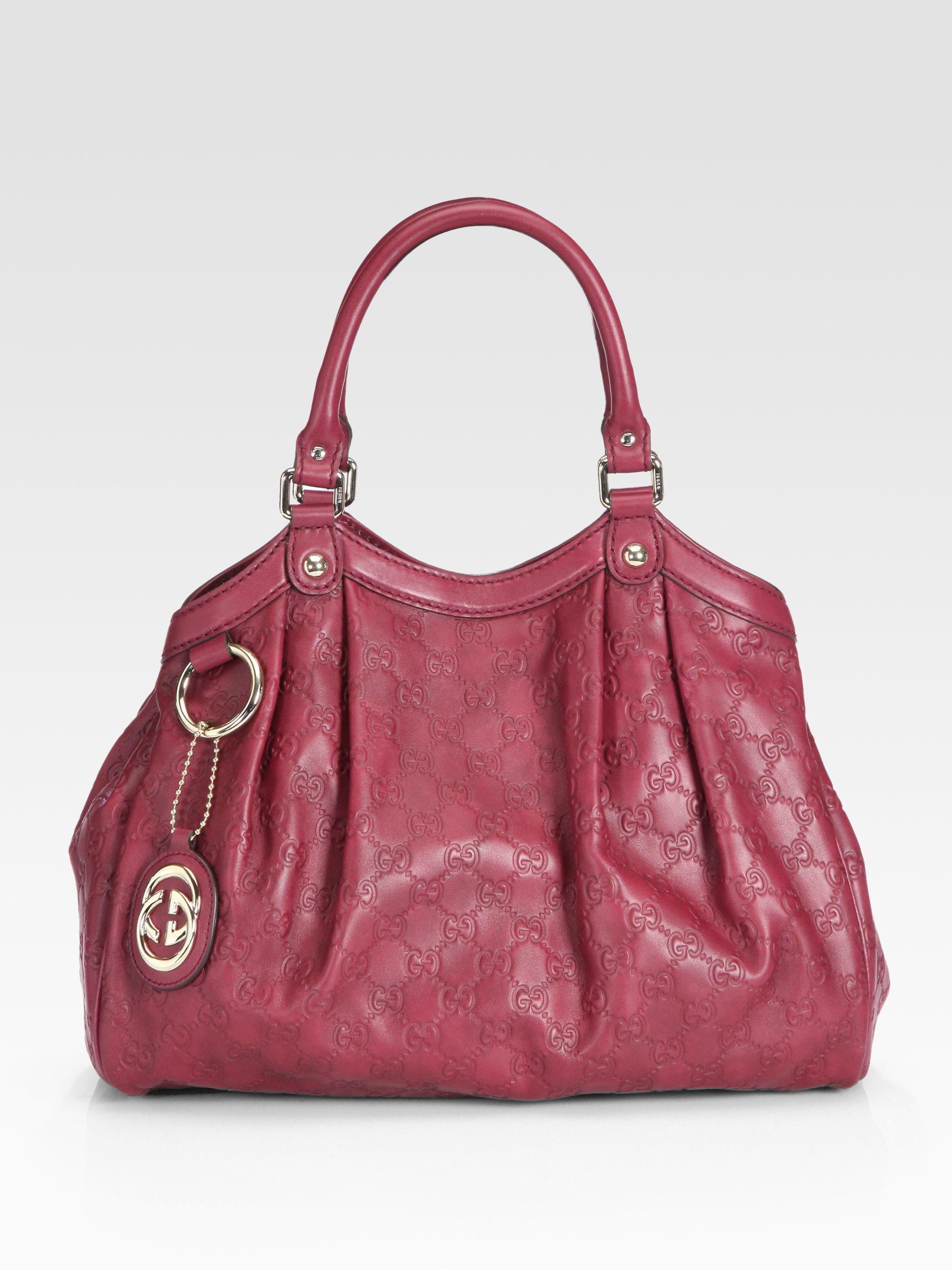 b23f38857b0a Lyst - Gucci Sukey Gg Medium Tote Bag in Red