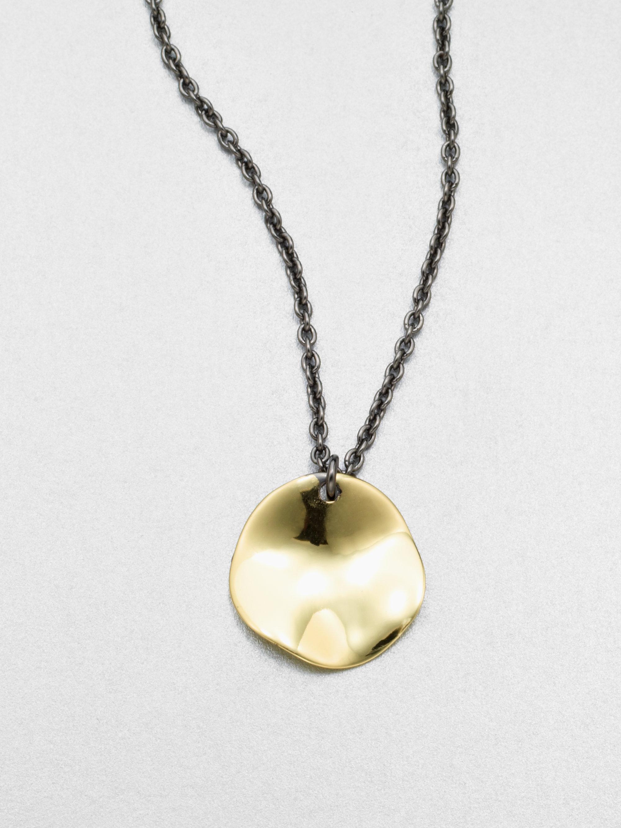 Lyst ippolita 18k gold disc pendant necklace in metallic for men gallery aloadofball Gallery