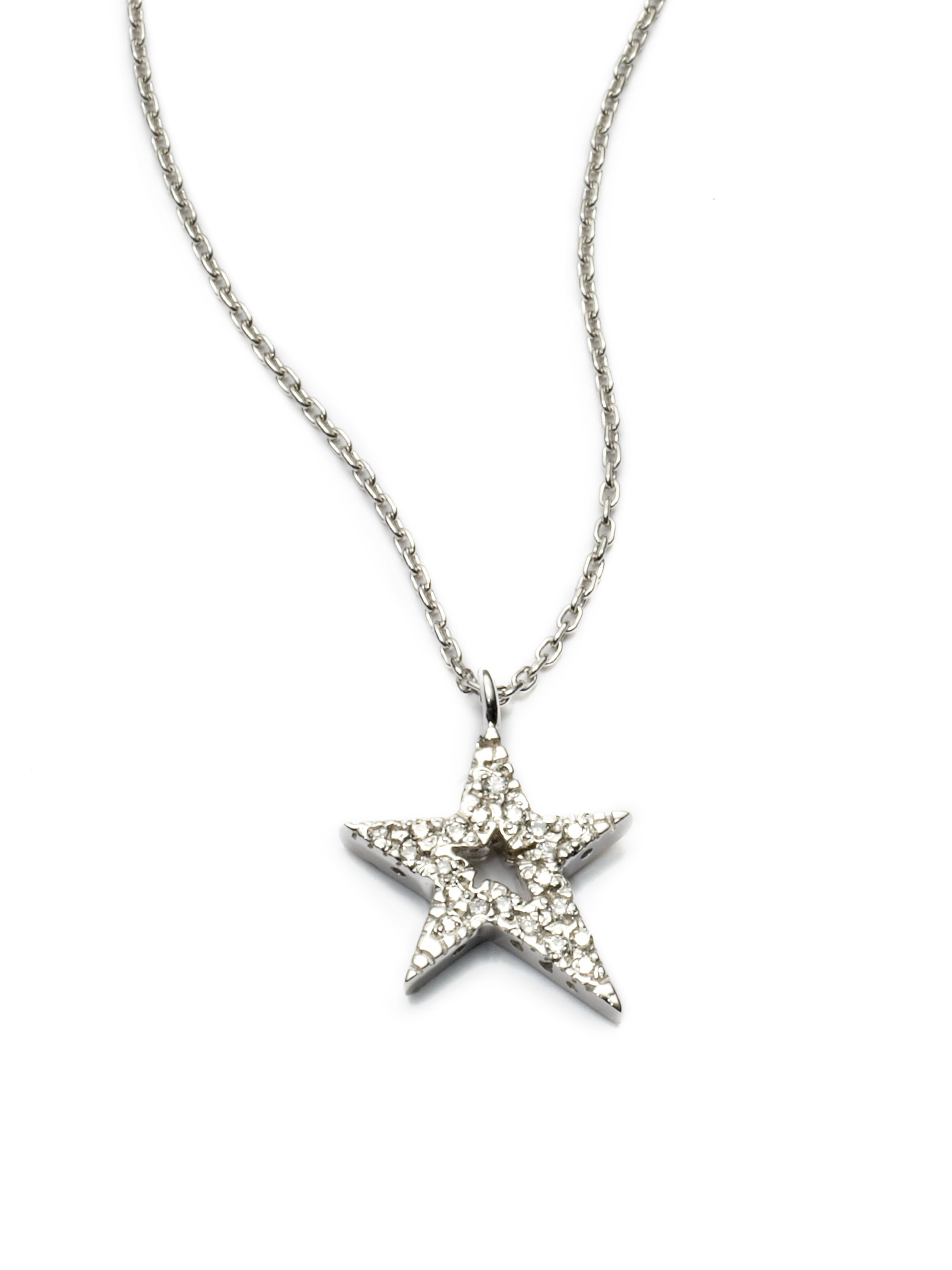 Kc designs Diamond Star Pendant Necklace in White