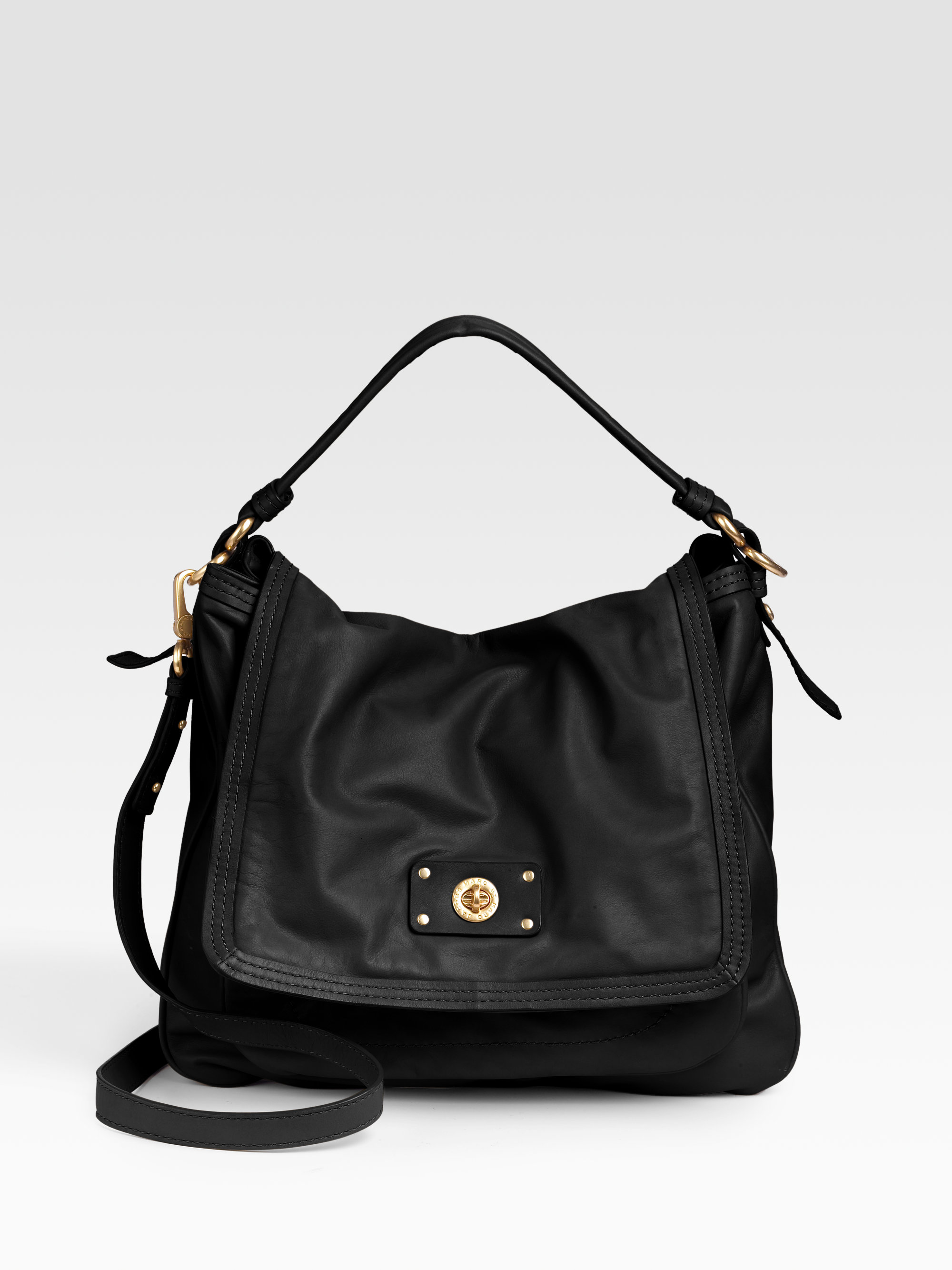 7cad7a92a22c Lyst - Marc By Marc Jacobs Totally Turnlock Lydia Crossbody in Black