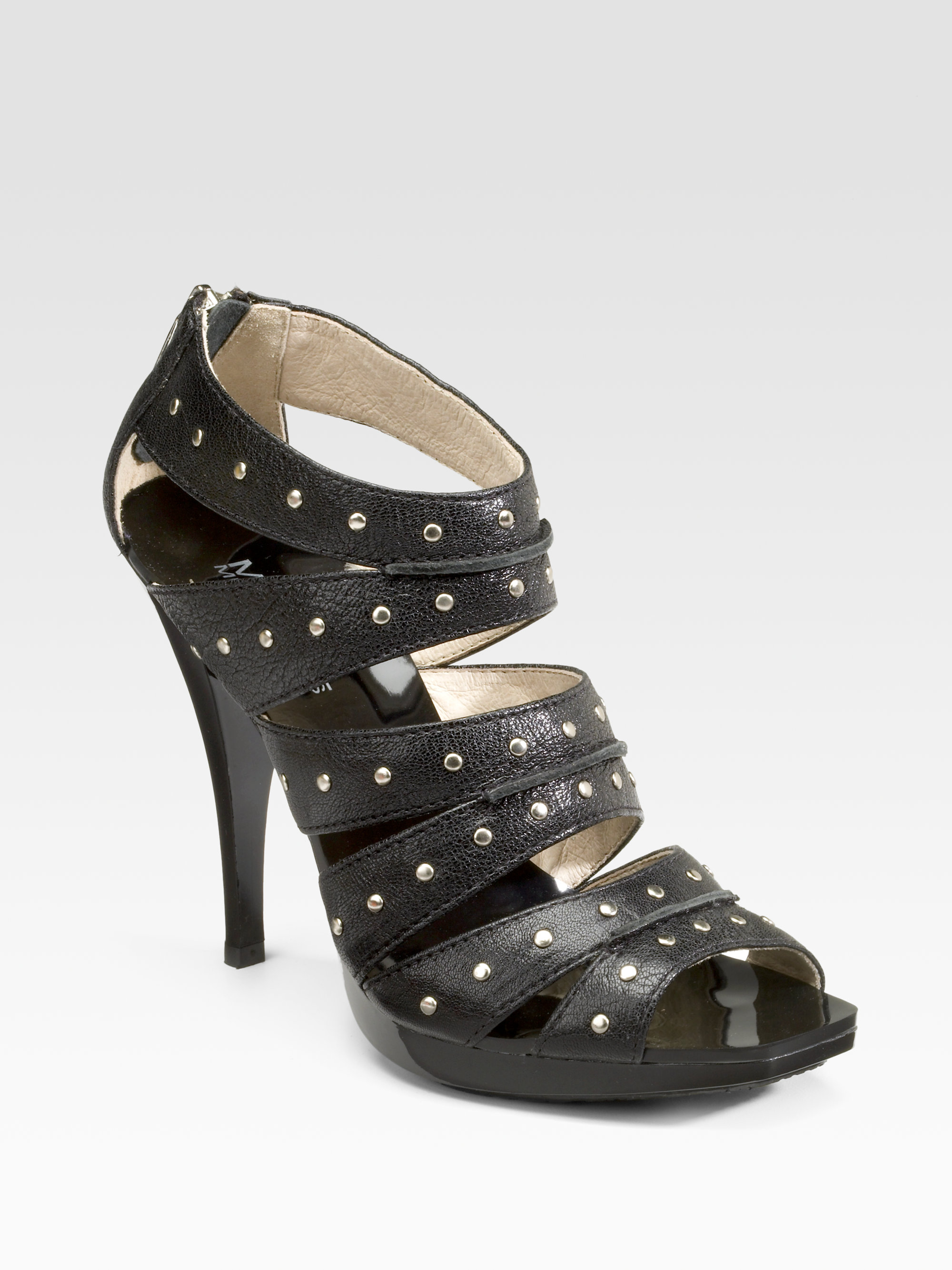 Michael By Michael Kors Studded Platform Sandals In Black