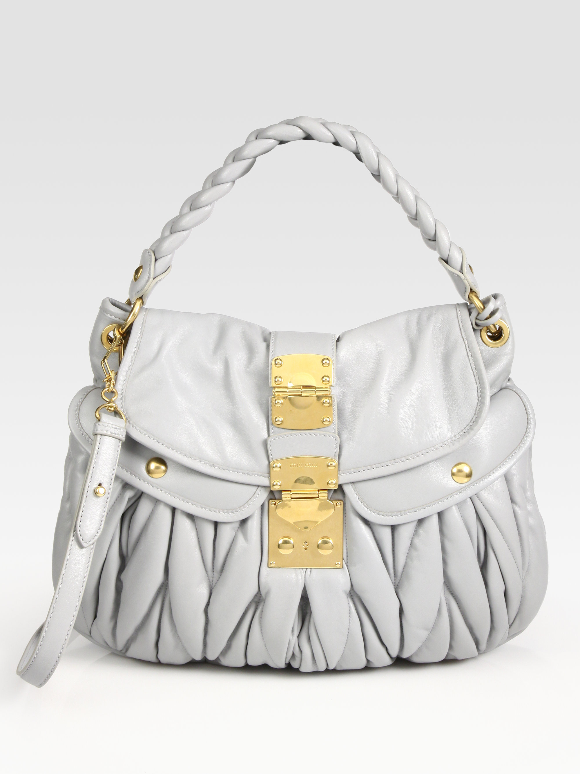 571c73587f1f Gallery. Previously sold at  Saks Fifth Avenue · Women s Miu Miu Shoulder  Bag ...