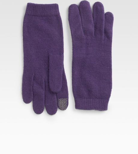 Portolano Minierva Ipod Gloves in Purple (black)