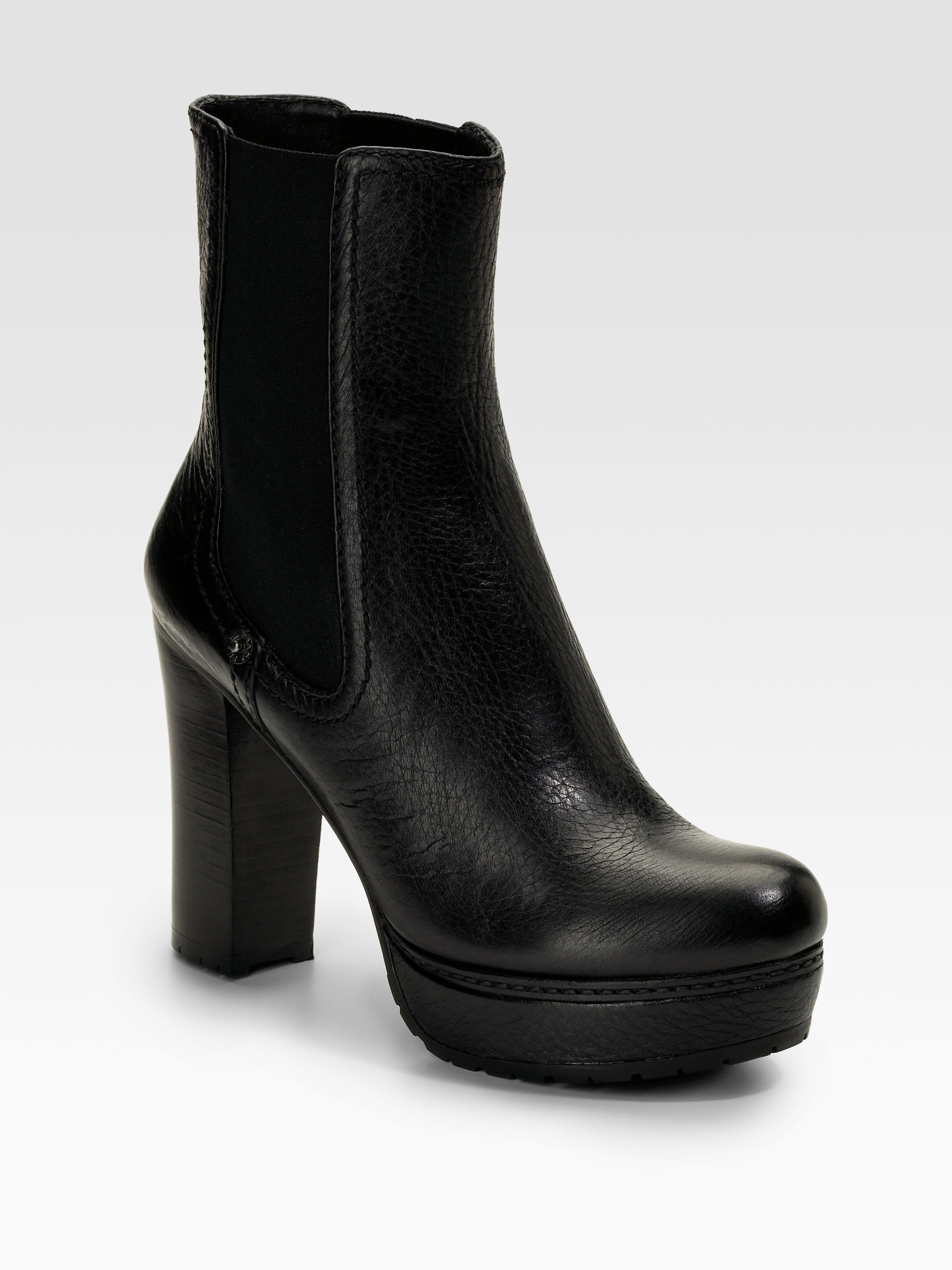 dfc42d630b8 Prada Black Boots. Prada Studded Leather Ankle Boots in Black