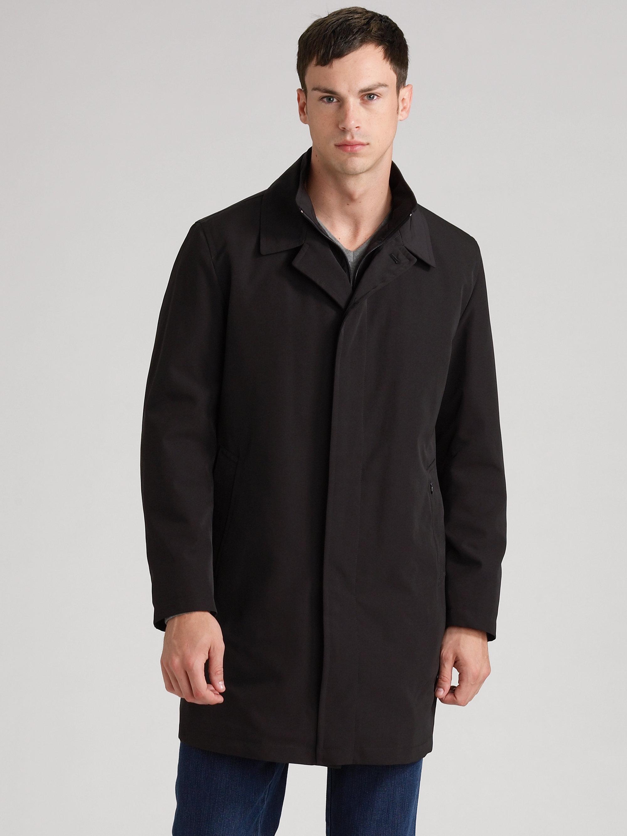 Mens Black Car Coat