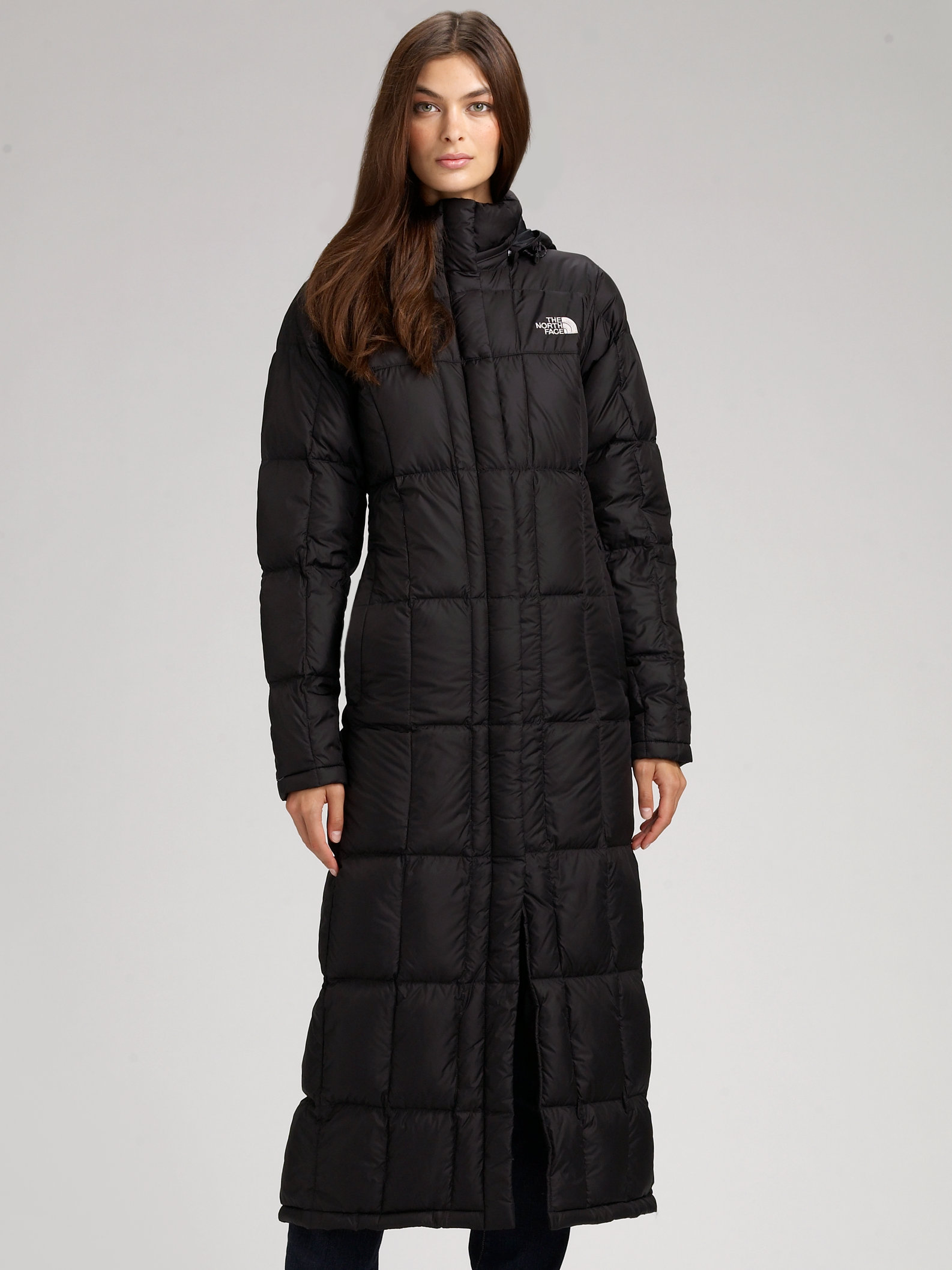 official photos 5925d ea15c ... shopping lyst the north face triple long puff jacket in black 842bf  e09ed