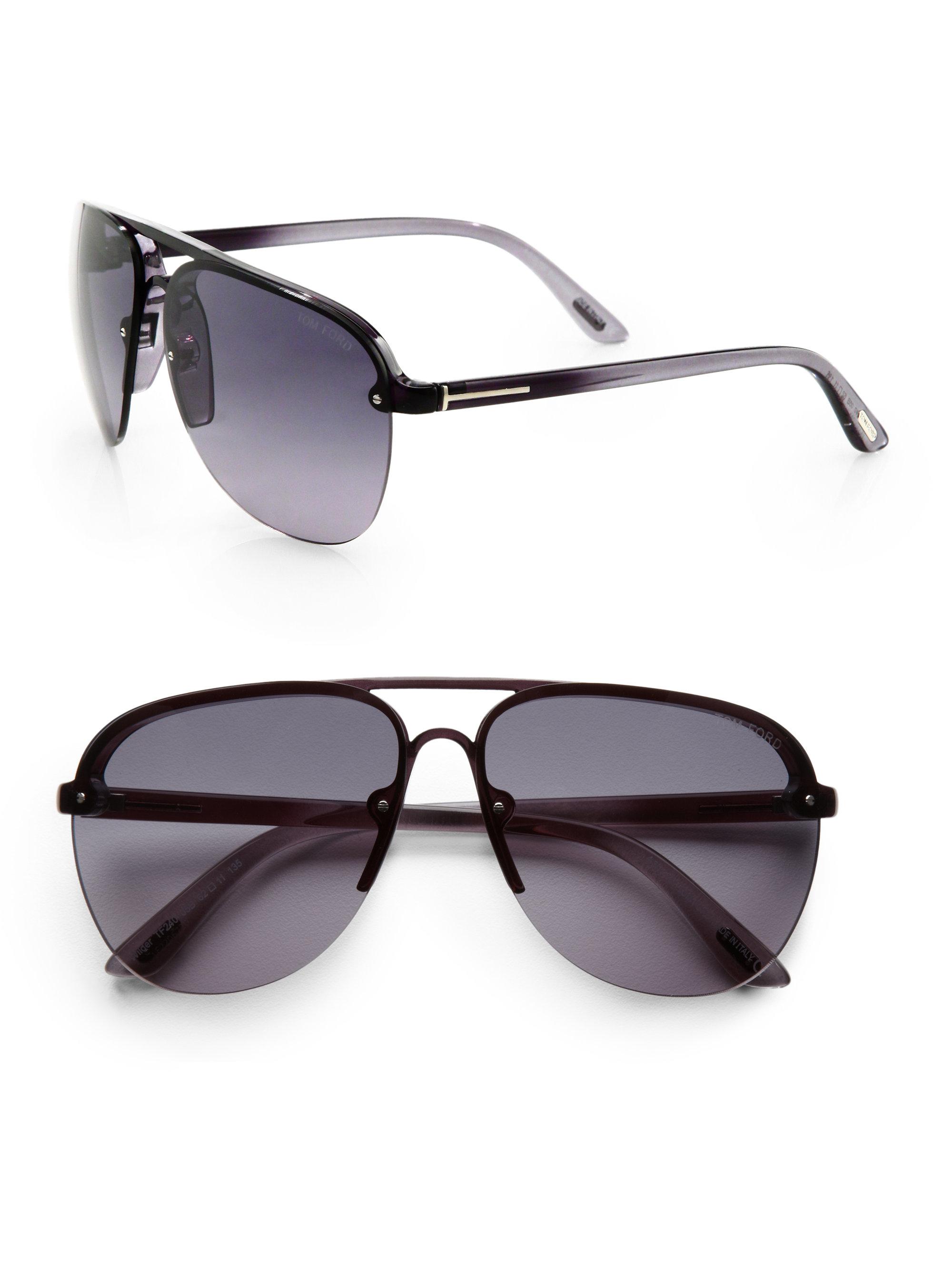a2556efb3793 Lyst - Tom ford Wilder Aviator Sunglasses in Black for Men