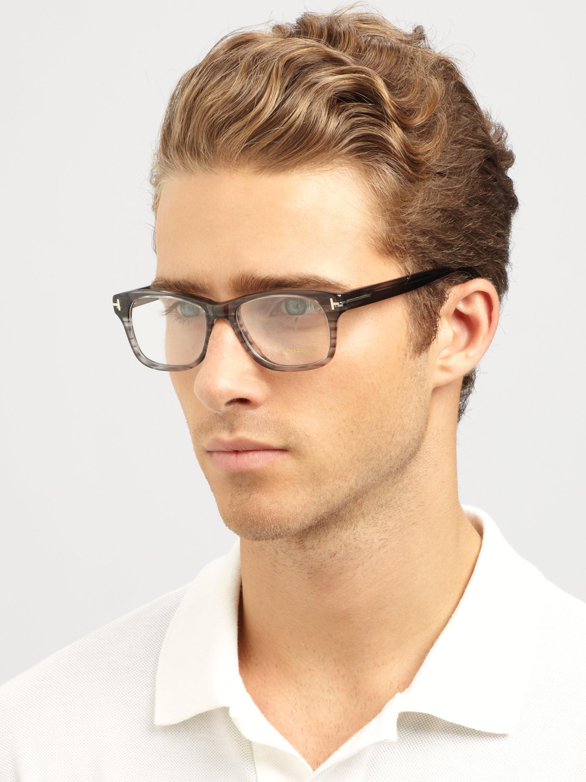 07f3a5deb4 Tom Ford Plastic Optical Frames in Black - Lyst