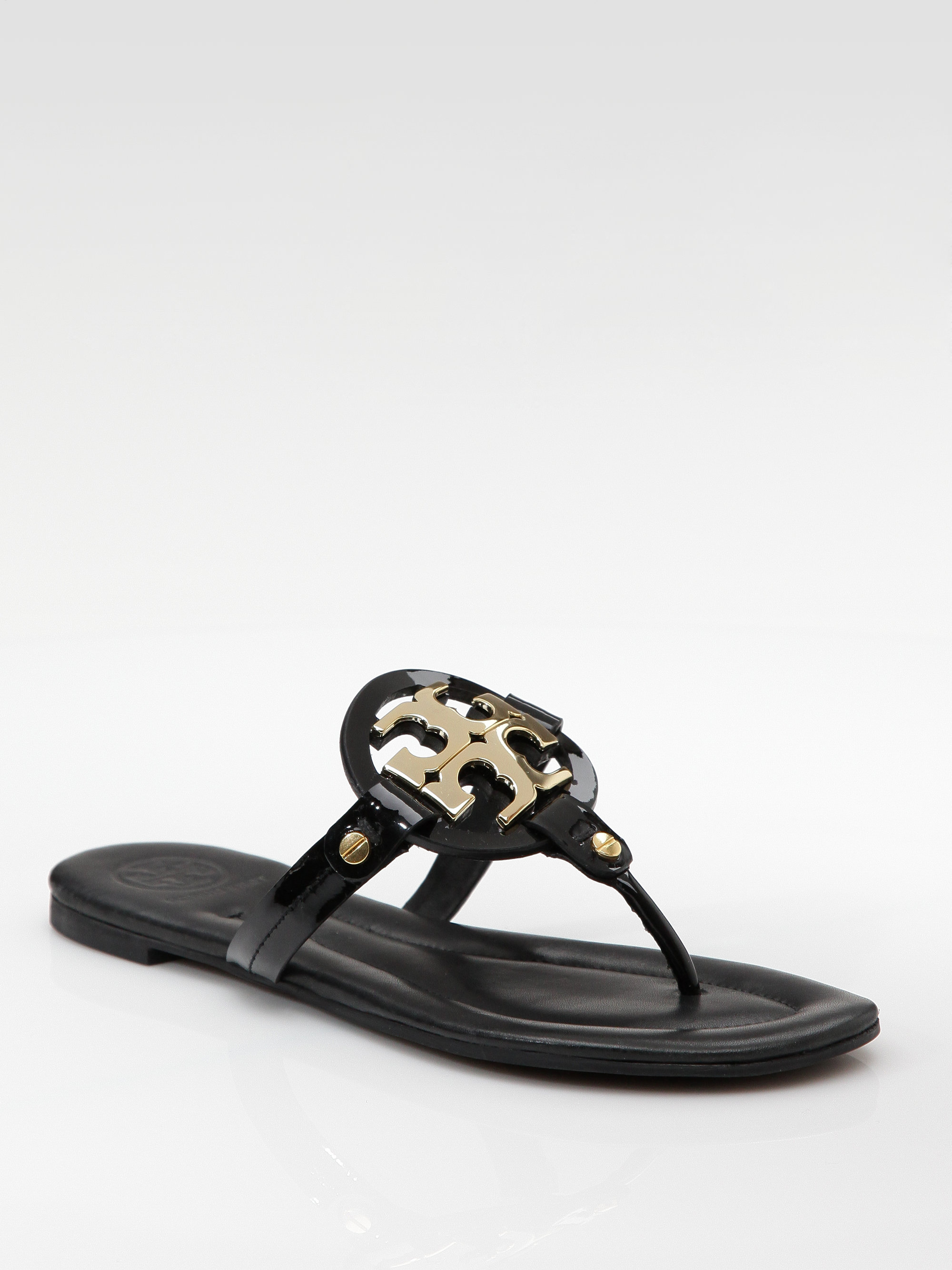 Tory Burch Patent Leather Flat Sandals