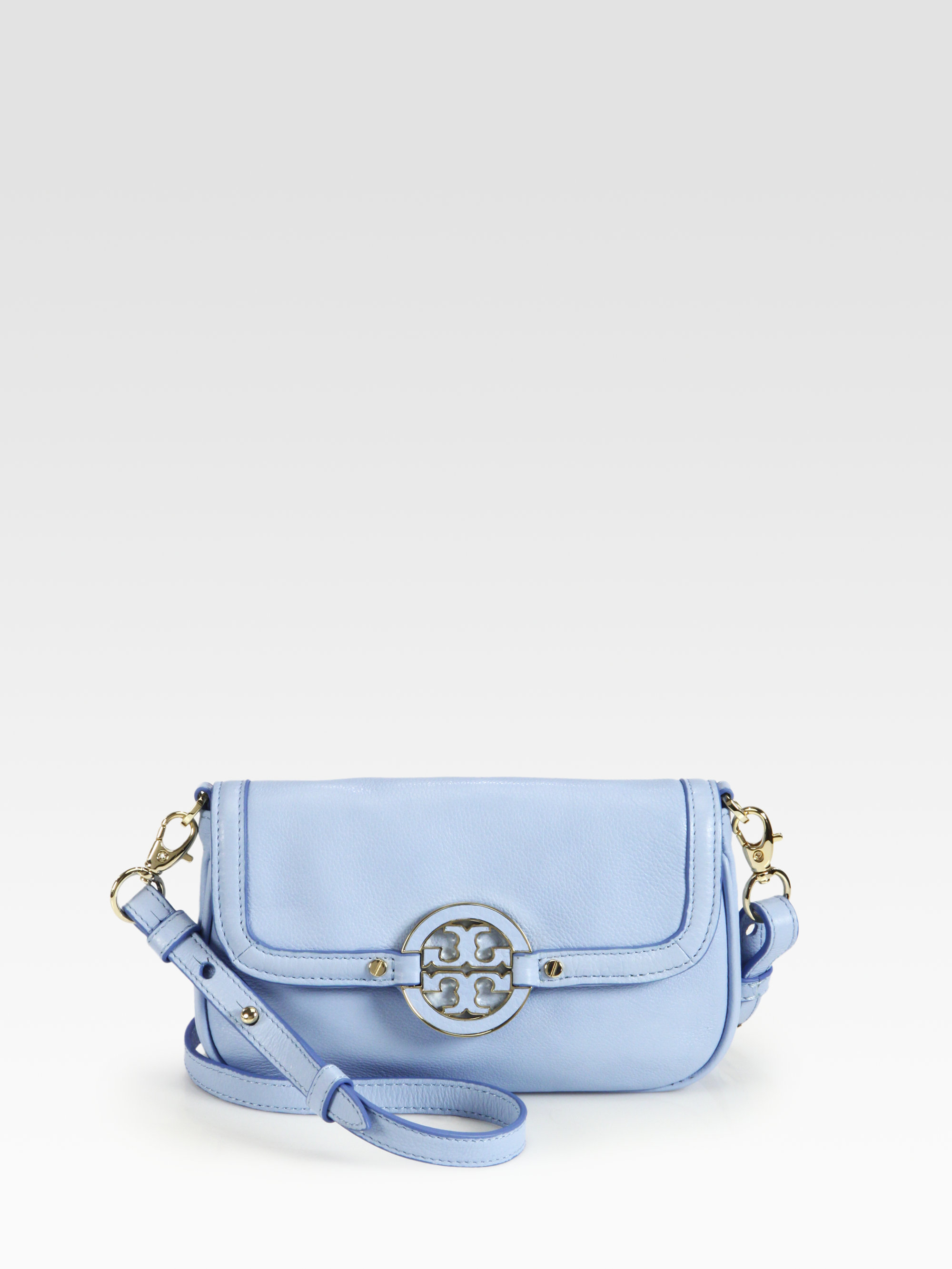 d5af55dc9233 Lyst - Tory Burch Amanda Classic Crossbody Bag in Blue