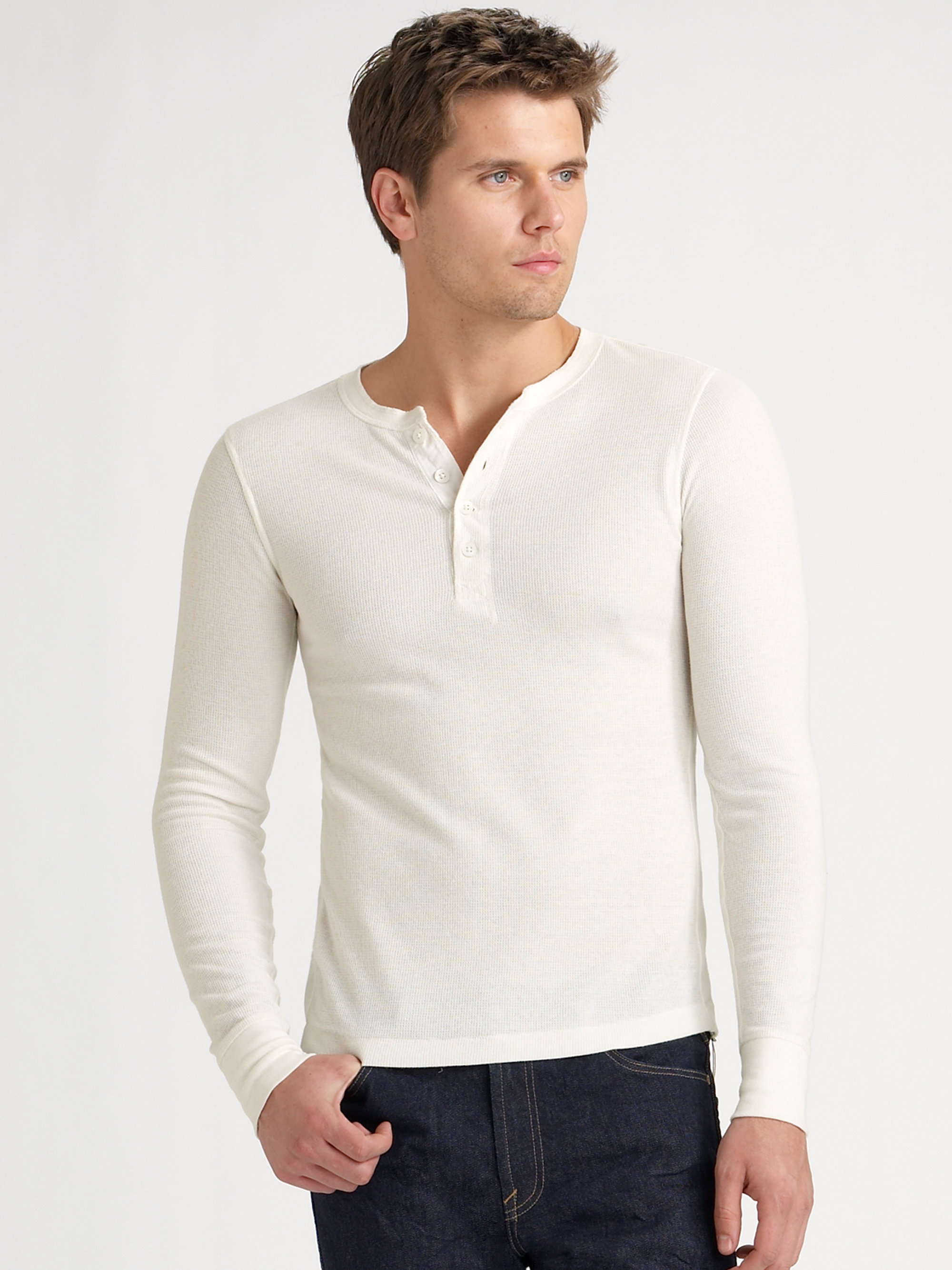 Henleys pair perfectly with any of our mens jeans or plainfront shorts and go surprisingly well with dressier pant and jacket options. For work, for play, or straight up lounging, a henley is appropriate for every man's lifestyle.