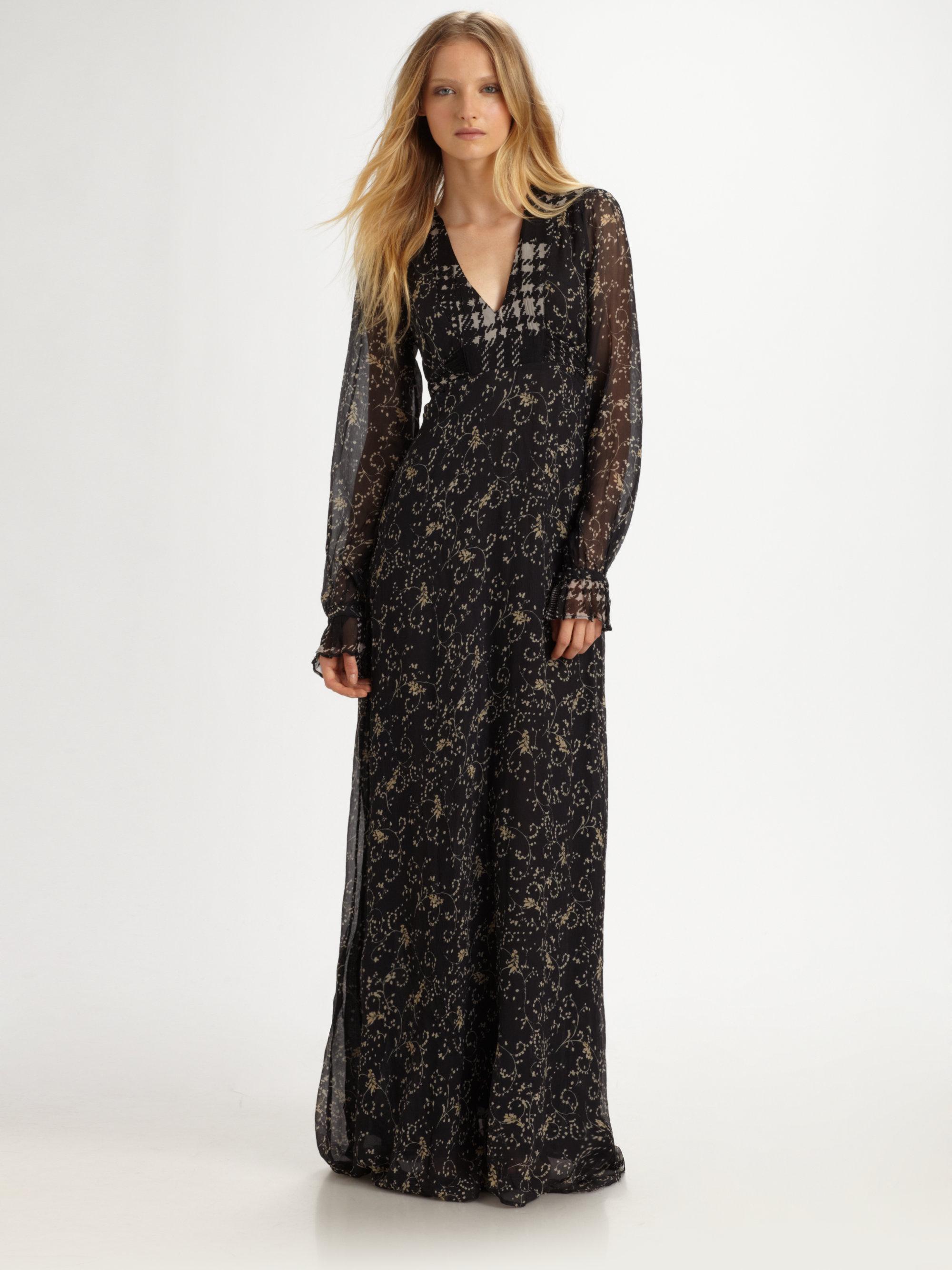 6b8137522ba54 Winter Kate Sweet Rose Maxi Dress in Black - Lyst