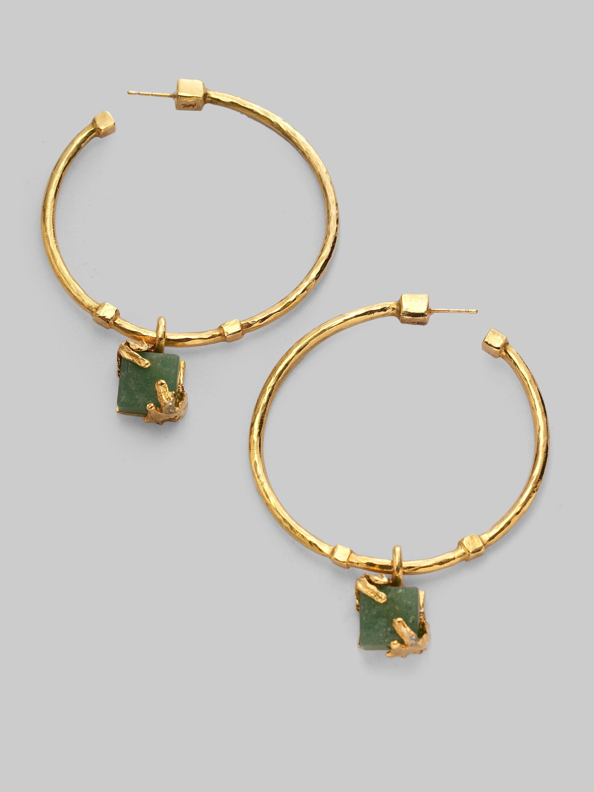 Saint Laurent Cocktail Clip Earrings in Metallics xNkz7TF