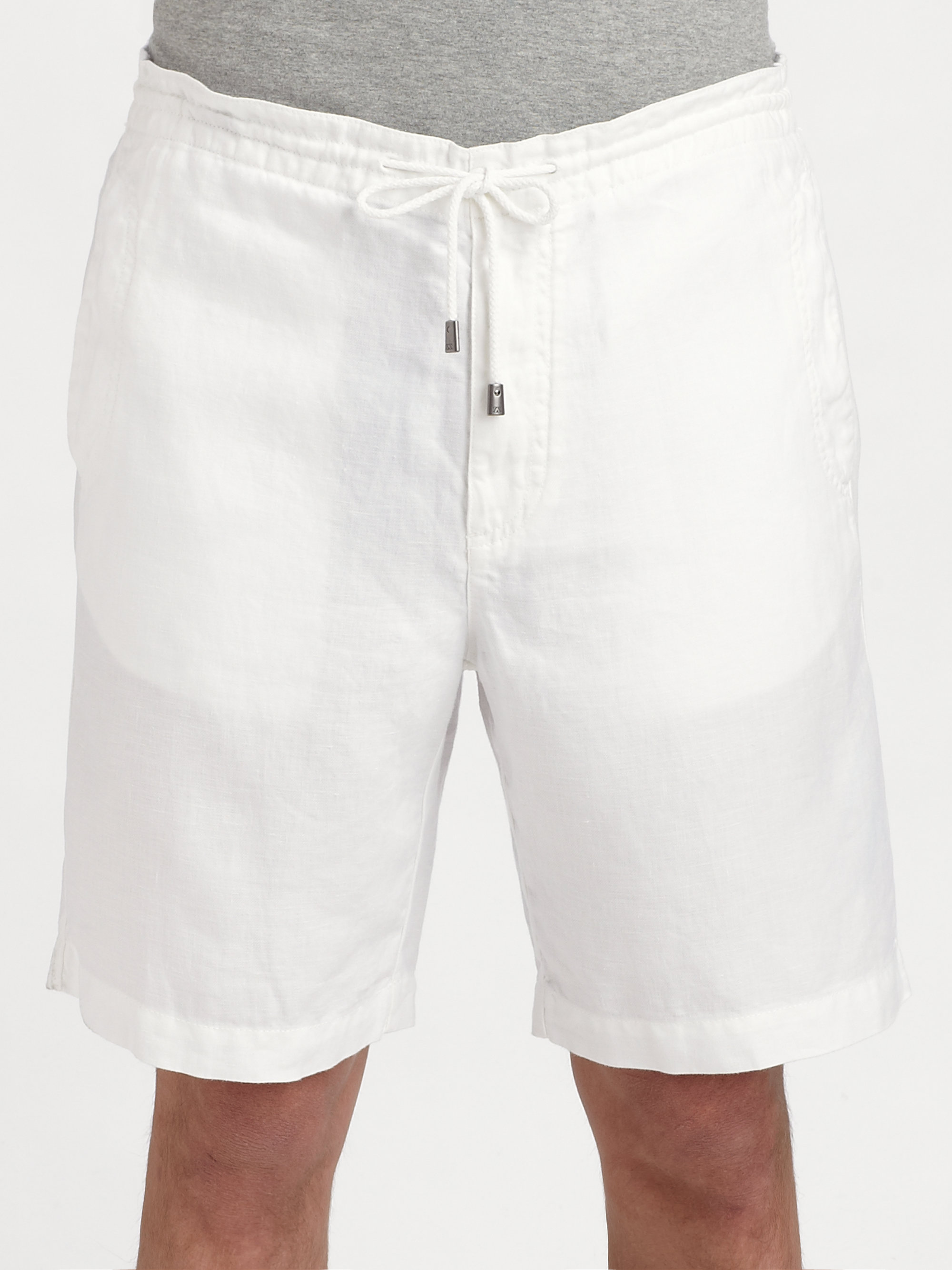 Zegna Sport Linen Drawstring Shorts In White For Men Lyst