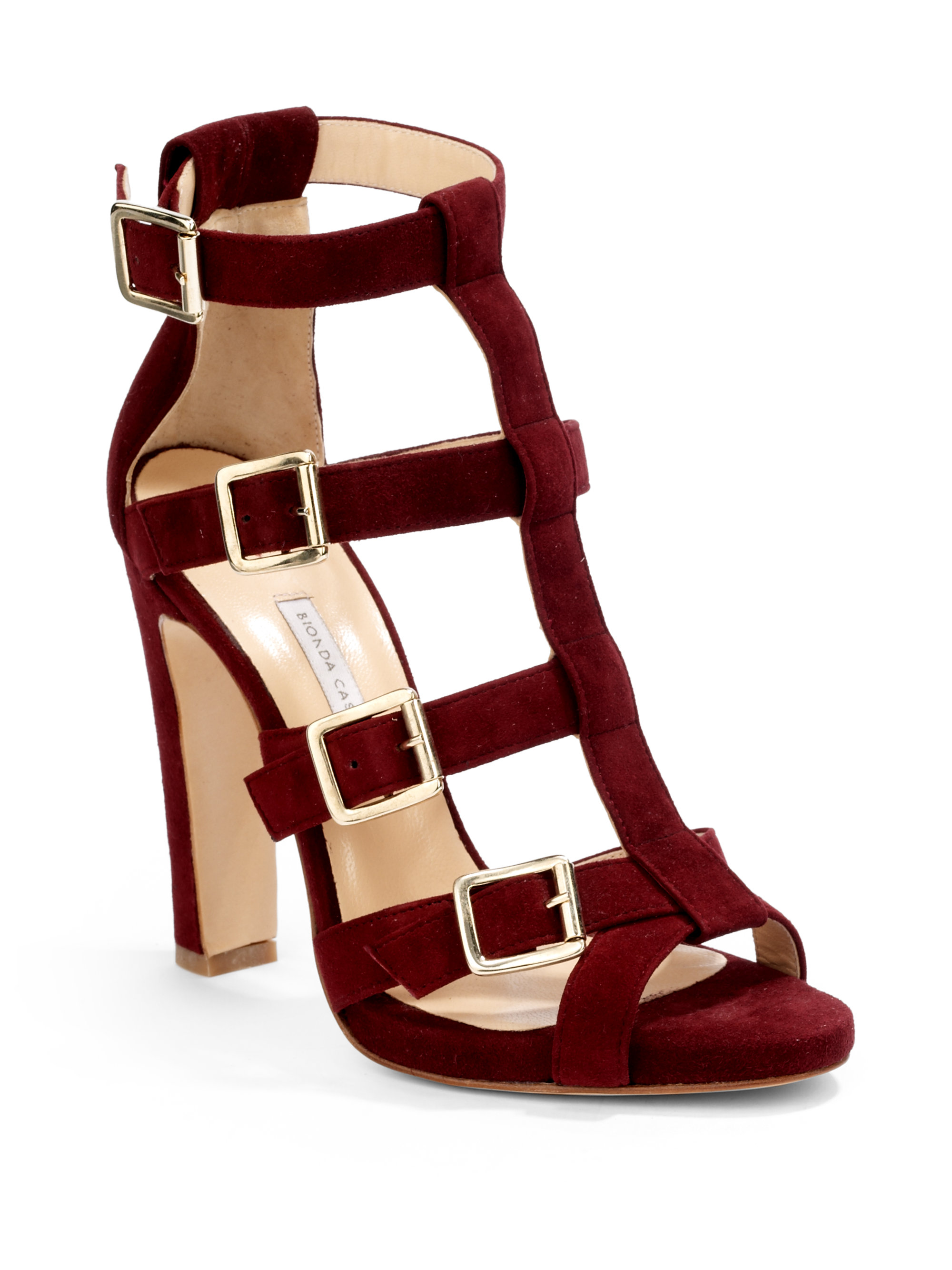 Lyst Bionda Castana Olivia Strappy Sandals In Red