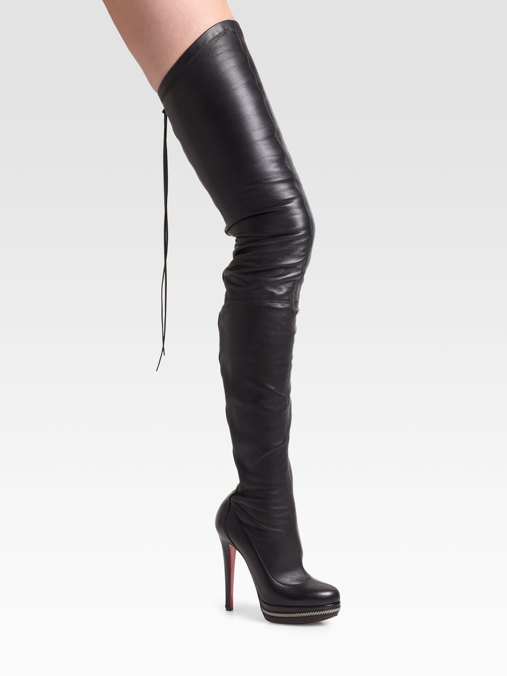 Lyst - Christian Louboutin Unique Thigh High Platform -8279