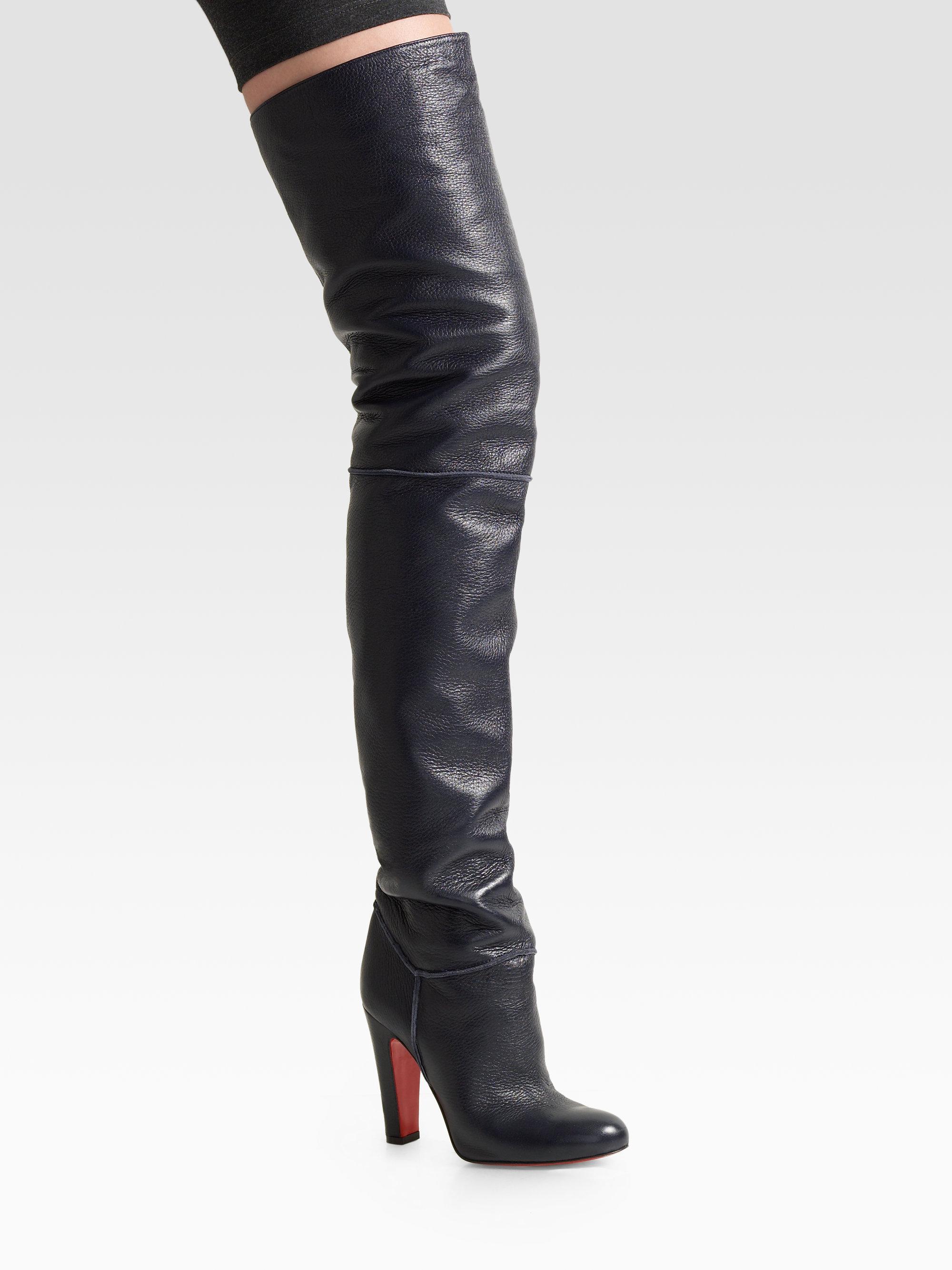 a6065a07afc Christian Louboutin Black Contente Overtheknee Boots