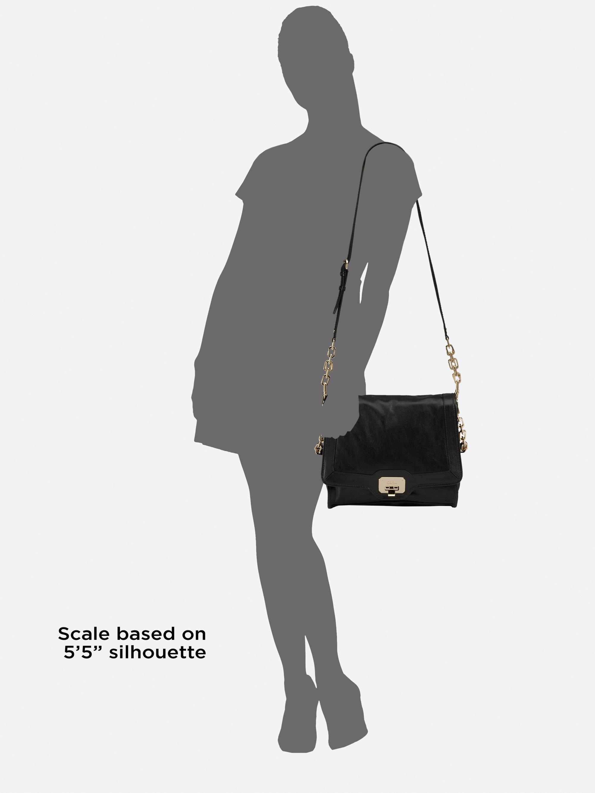 e1ebdf228 Cole Haan Vintage Valise Jenna Leather Shoulder Bag in Black - Lyst